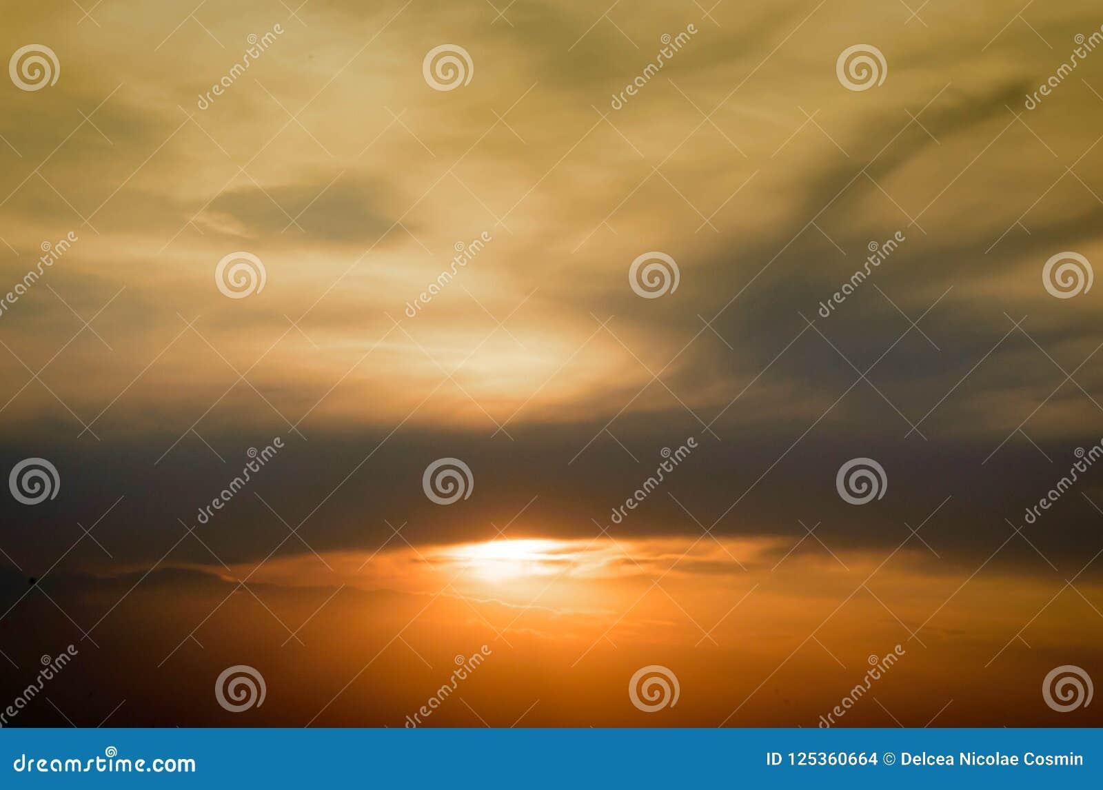 Coucher du soleil sur terre
