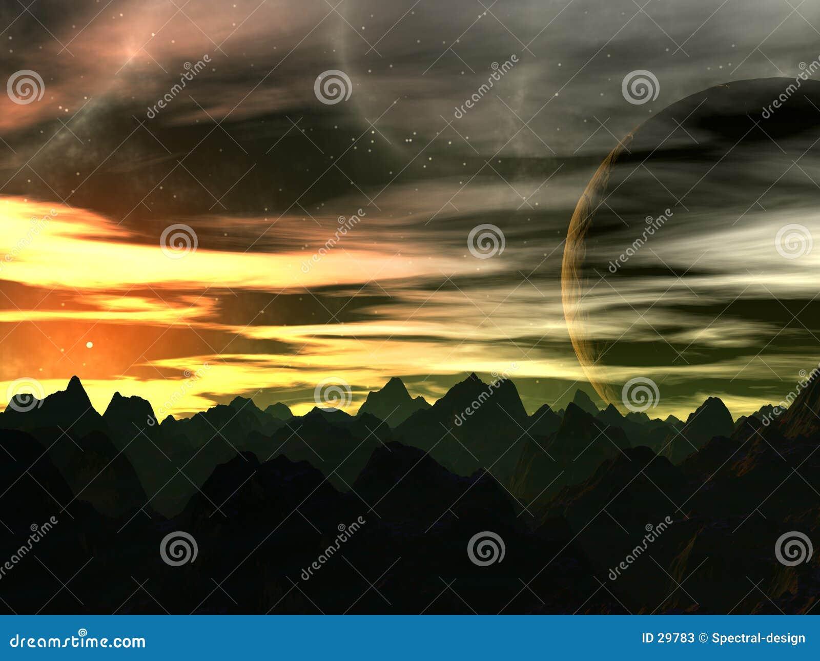 Coucher du soleil sur Xilis 8