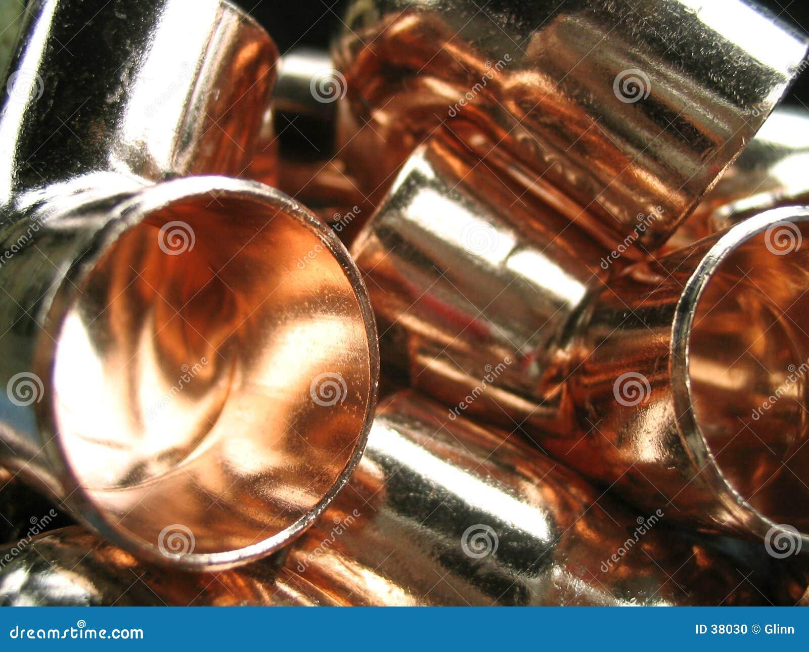 Coudes de cuivre de tuyauterie