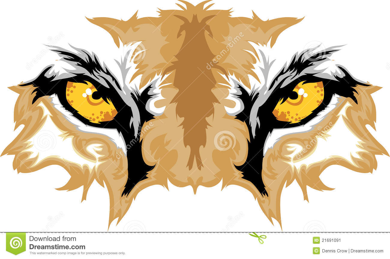 cougar eyes mascot graphic stock vector illustration of cougar clipart png cougar clipart png