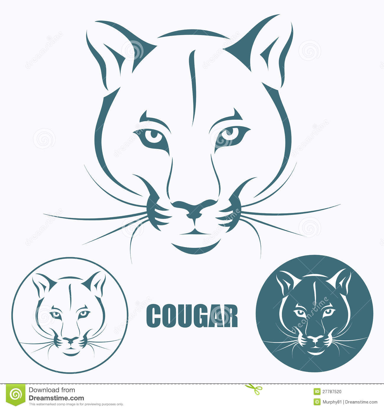 33736555353 Cougar head stock vector. Illustration of black, isolated - 27787520