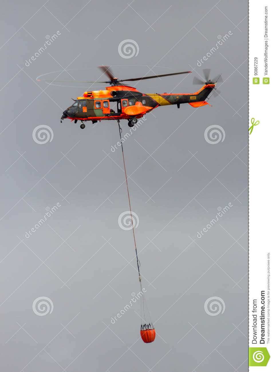 Cougar helicopter bambi bucket