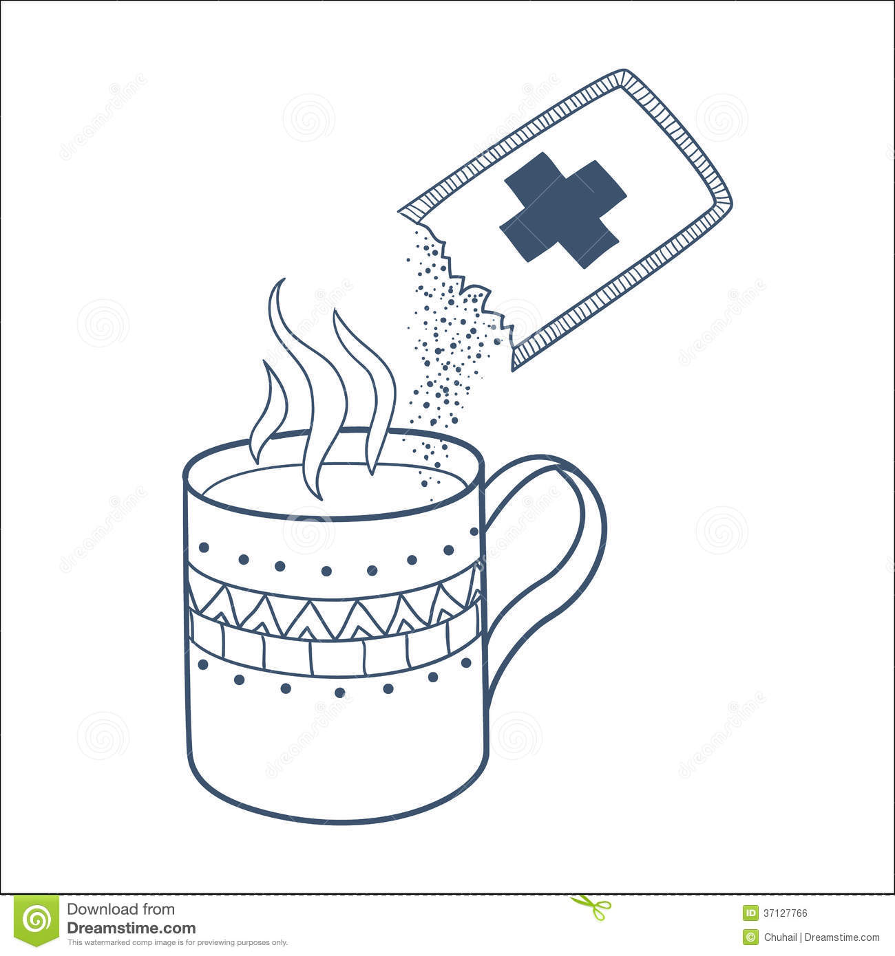 Cough And Cold Instant Hot Drink Royalty Free Stock Image