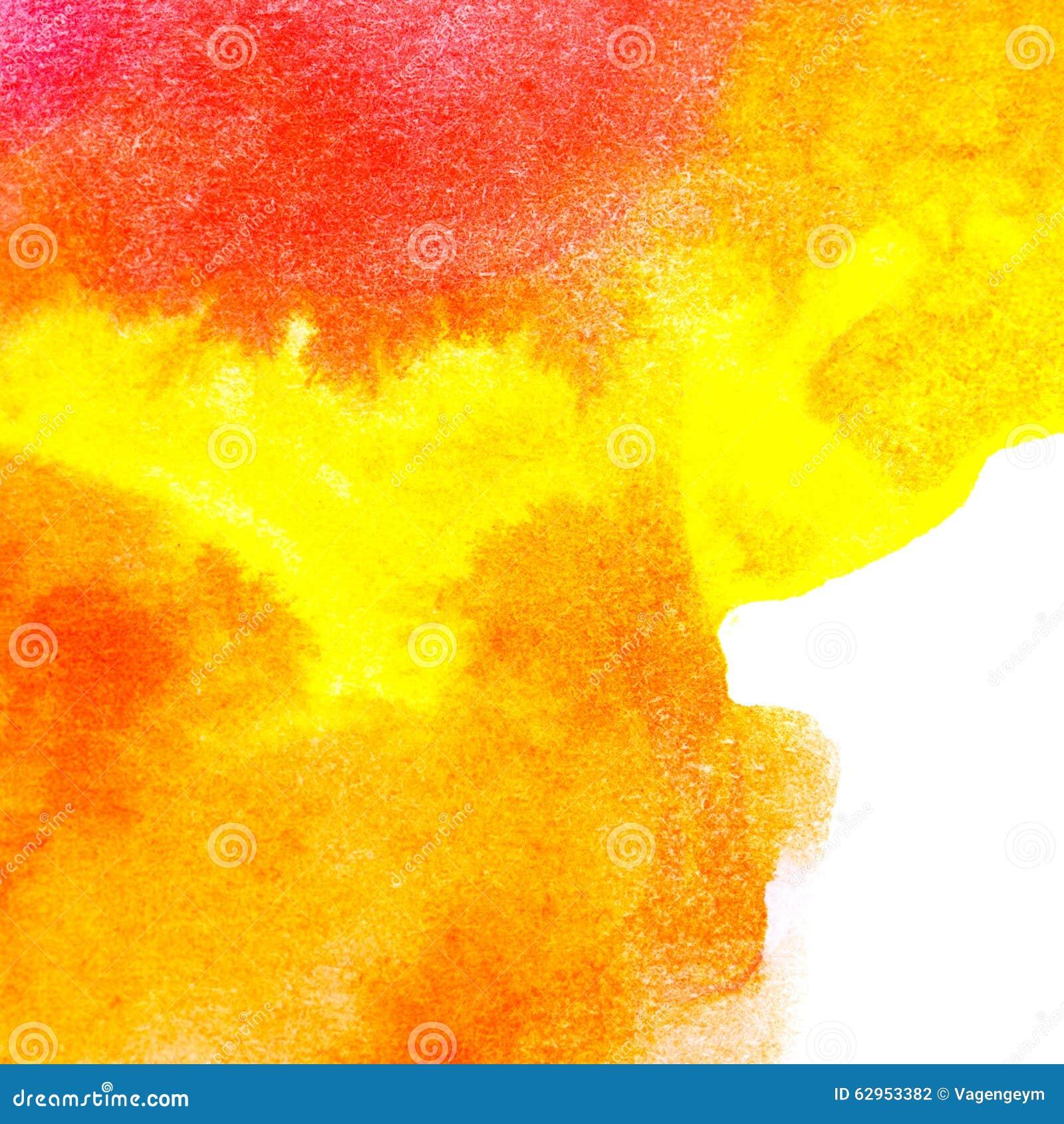 Couleur à L\'huile D\'art Abstrait Orange, Jaune Illustration Stock ...