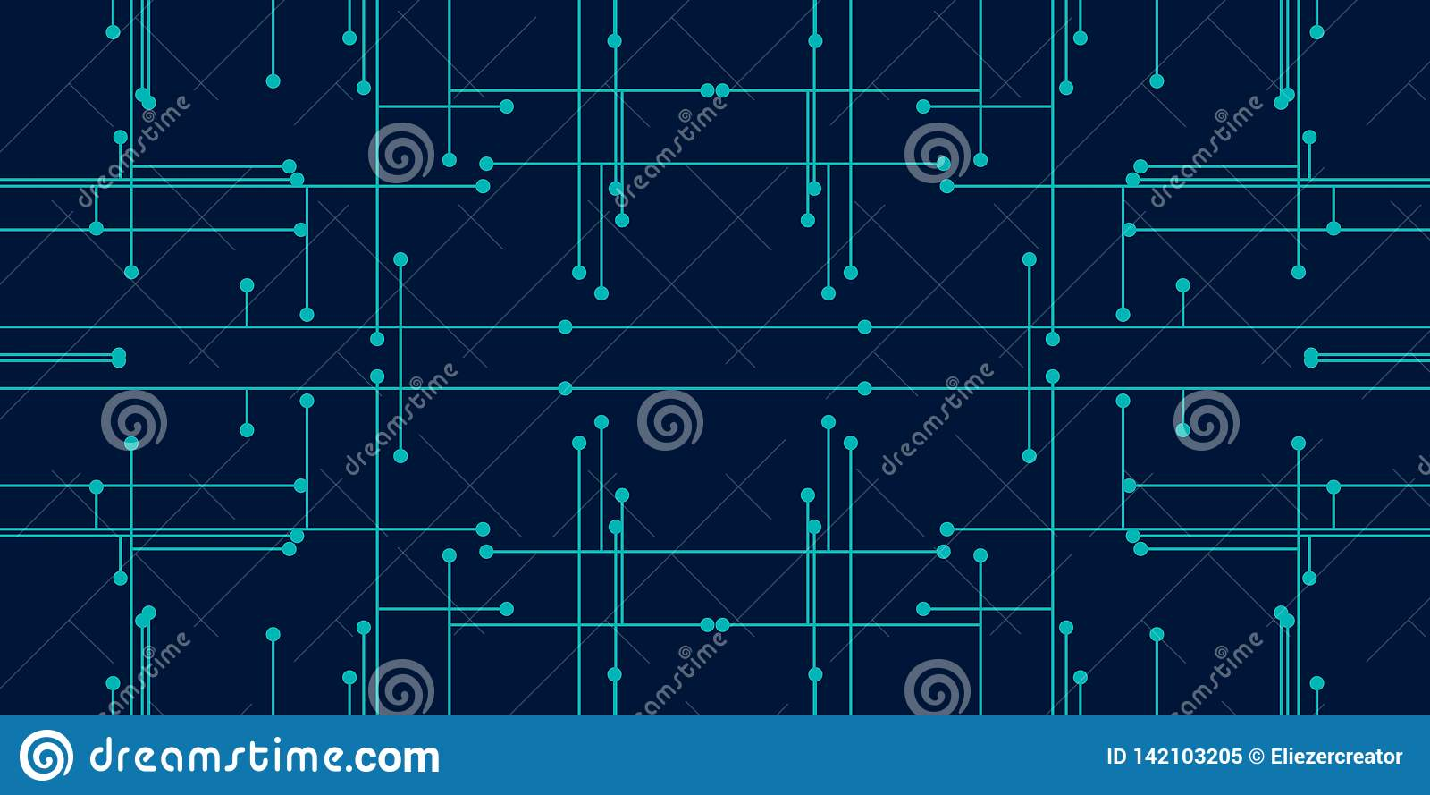 Couleur bleue de fond de résumé pour la technologie se composant des points et des lignes