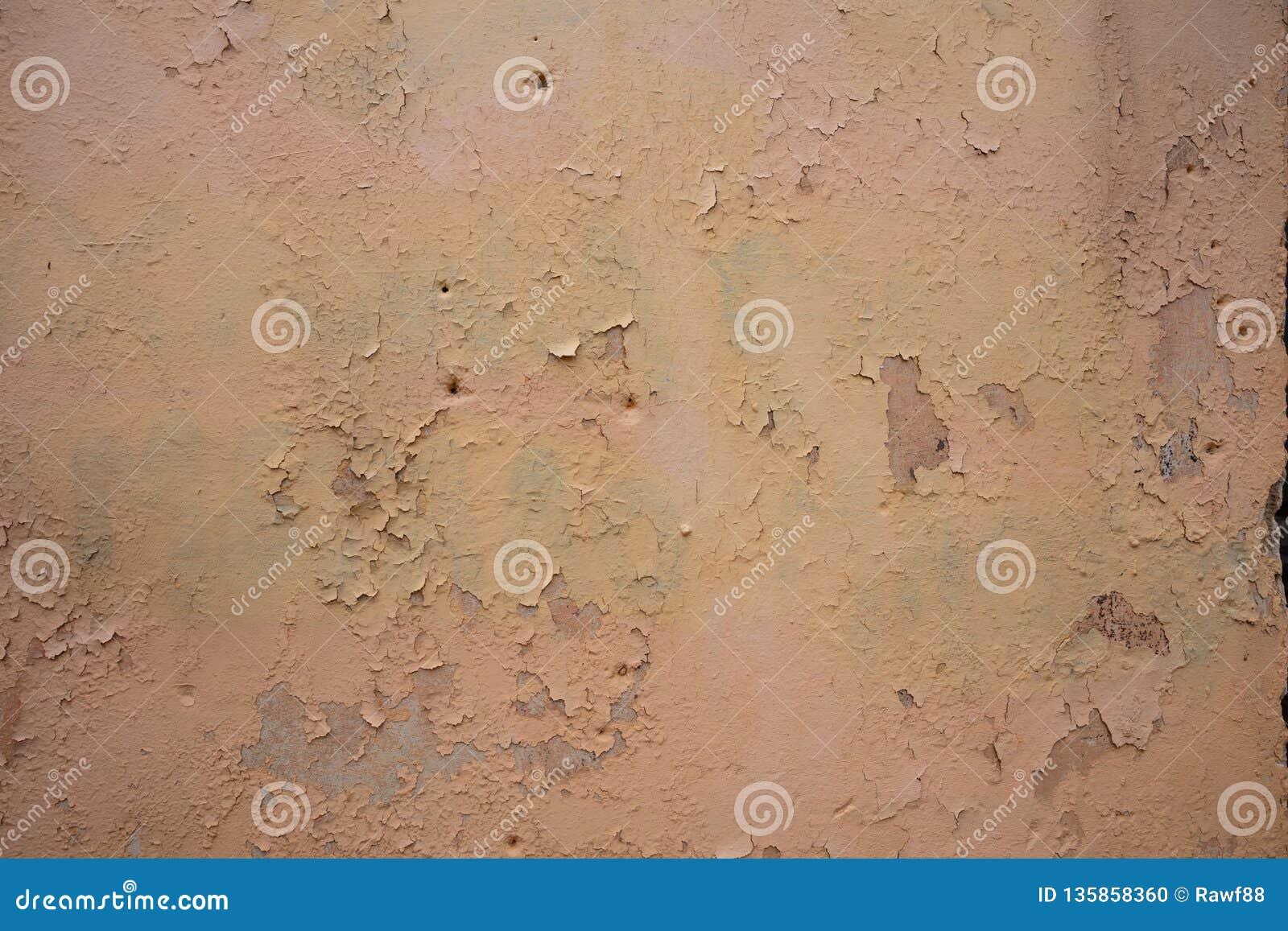 Couleur brun clair, fond grunge peint de texture de mur