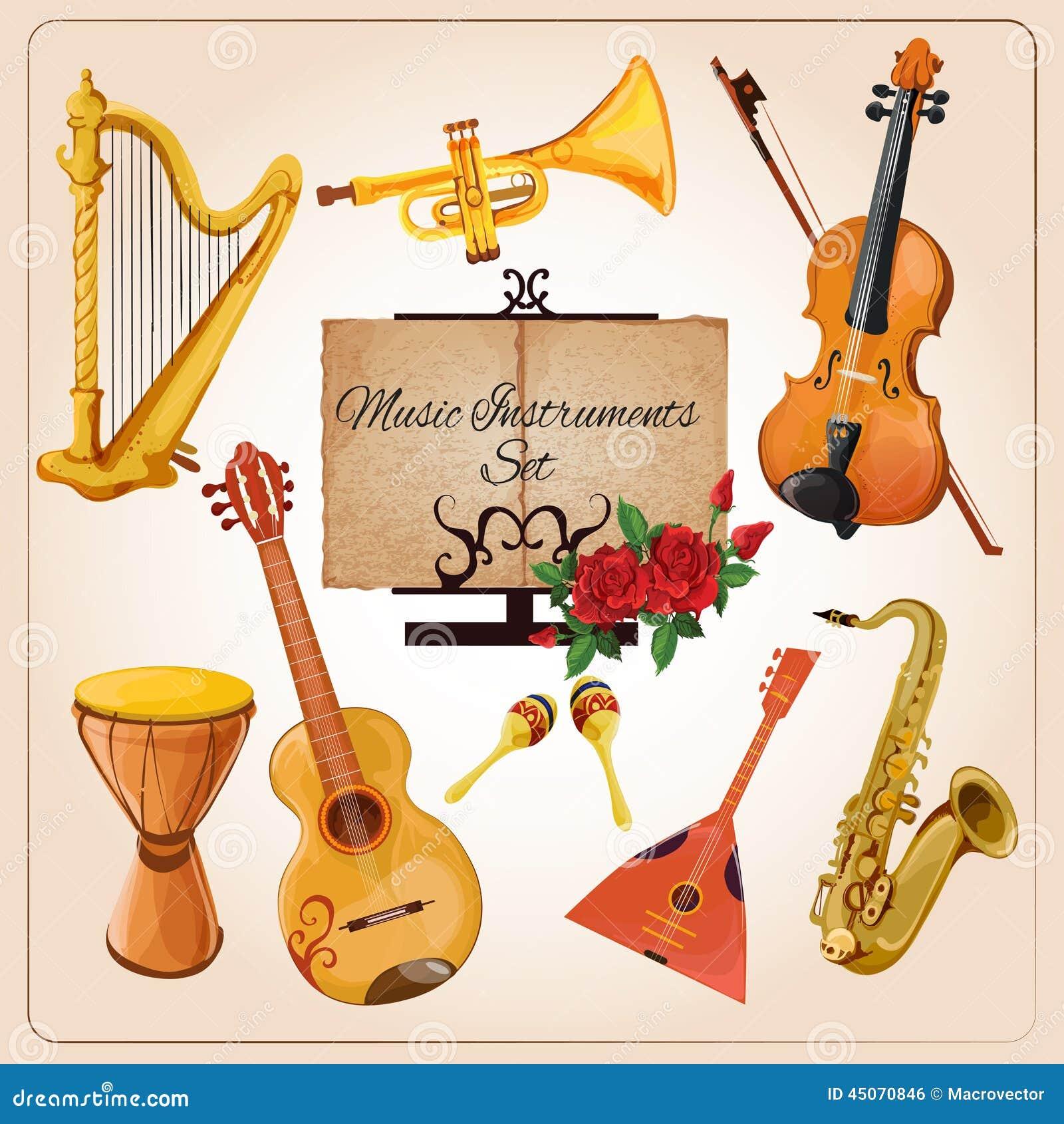 Couleur d 39 instruments de musique illustration de vecteur image 45070846 - Photo d instrument de musique ...