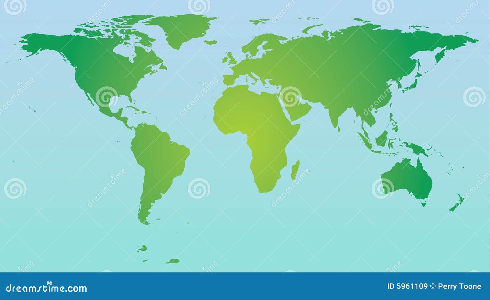 Couleur de carte du monde images libres de droits image 5961109 - Carte du monde en couleur ...