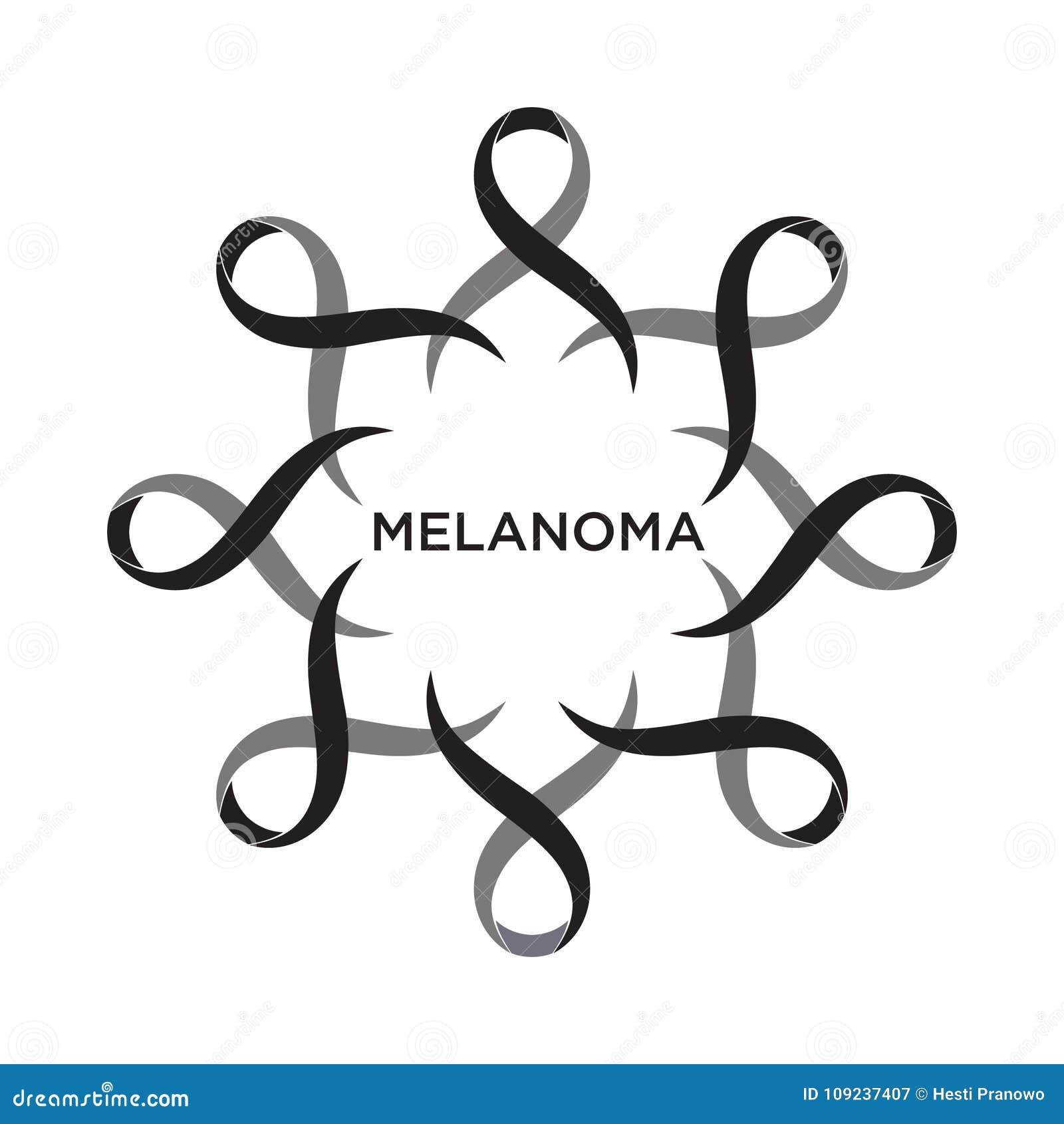 Couleur de noir de ruban de Cancer représentant l appui d aborder des cancers