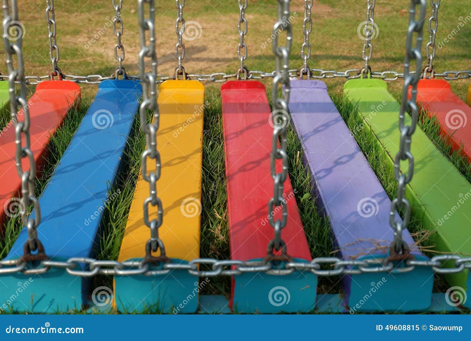 couleur de terrain de jeu image stock image du herbe 49608815. Black Bedroom Furniture Sets. Home Design Ideas