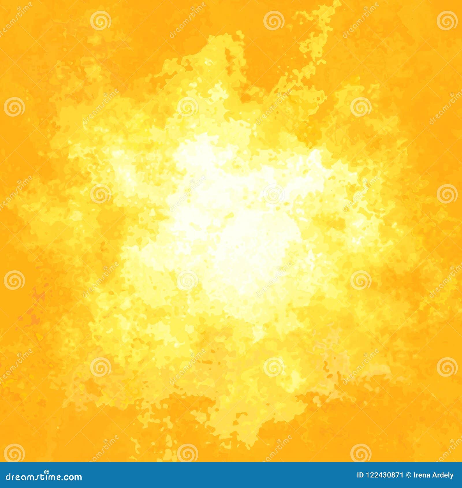 Couleur Jaune-orange Ensoleillée Souillée De Fond De Texture De ...