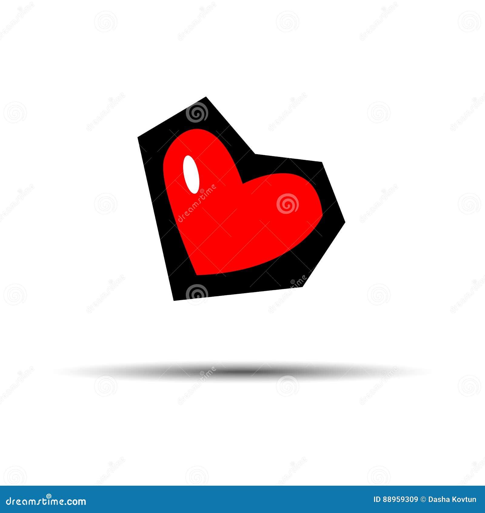 Couleur Rouge De Conception D Icône D Amour D élément De