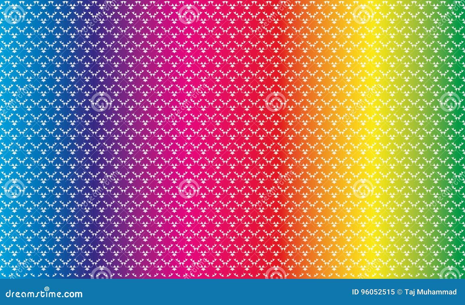 Couleur sans couture géométrique de spectre de modèle de forme unique d étoile