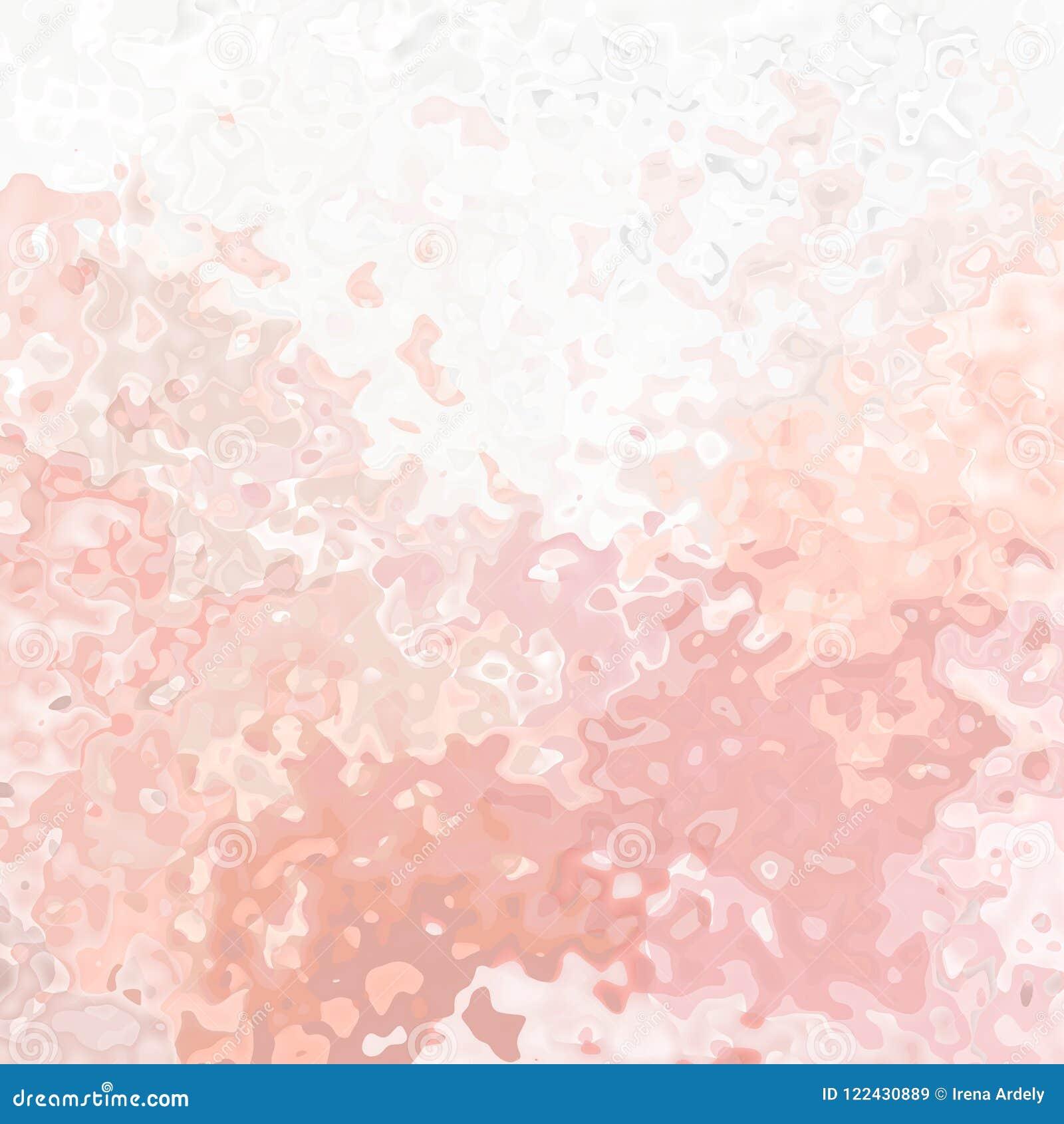 Couleur Saumonée Orange Rose Pâle Douce Souillée De Lumière