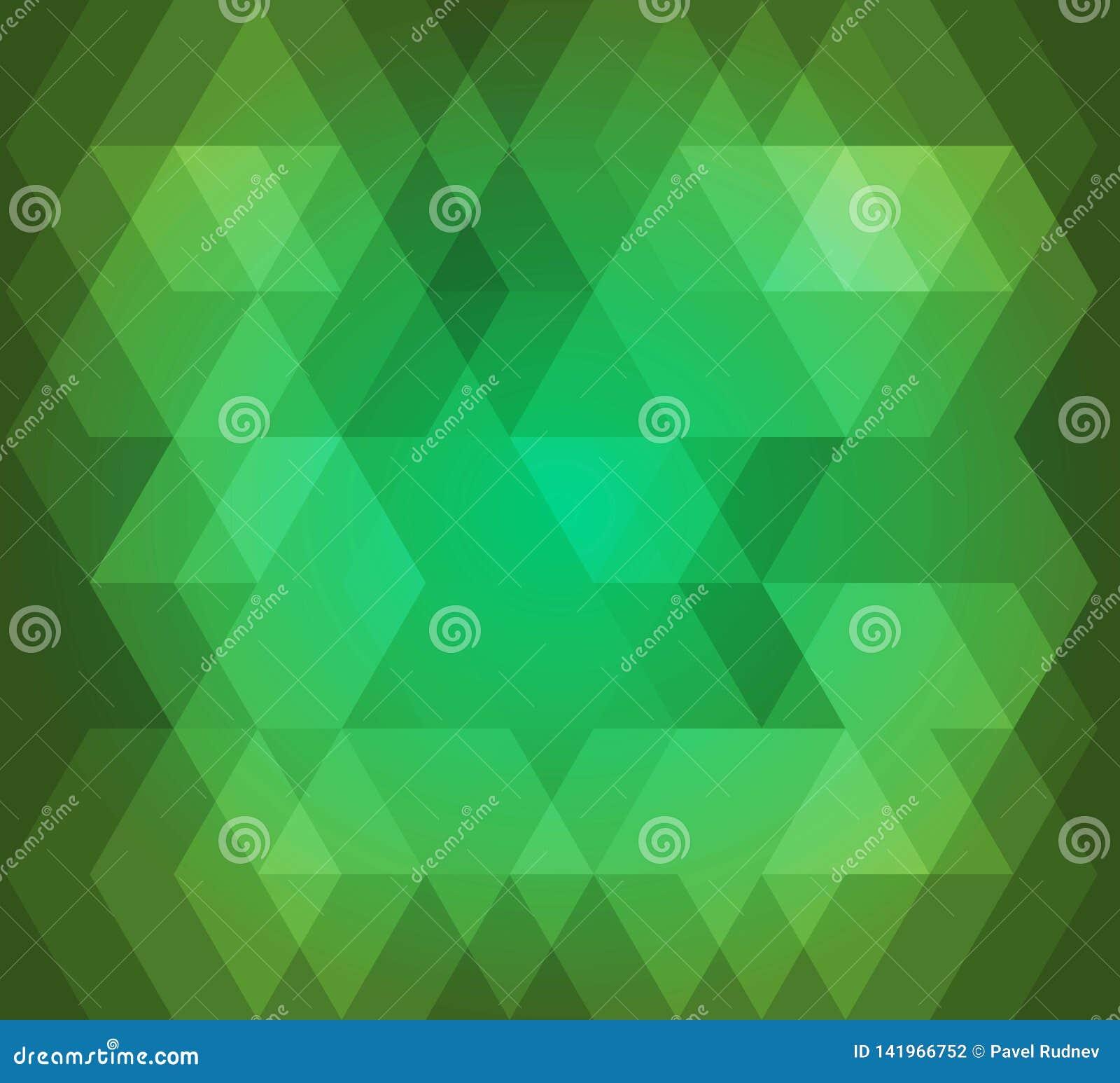 Couleur verte de fond de modèle abstrait de sortilège