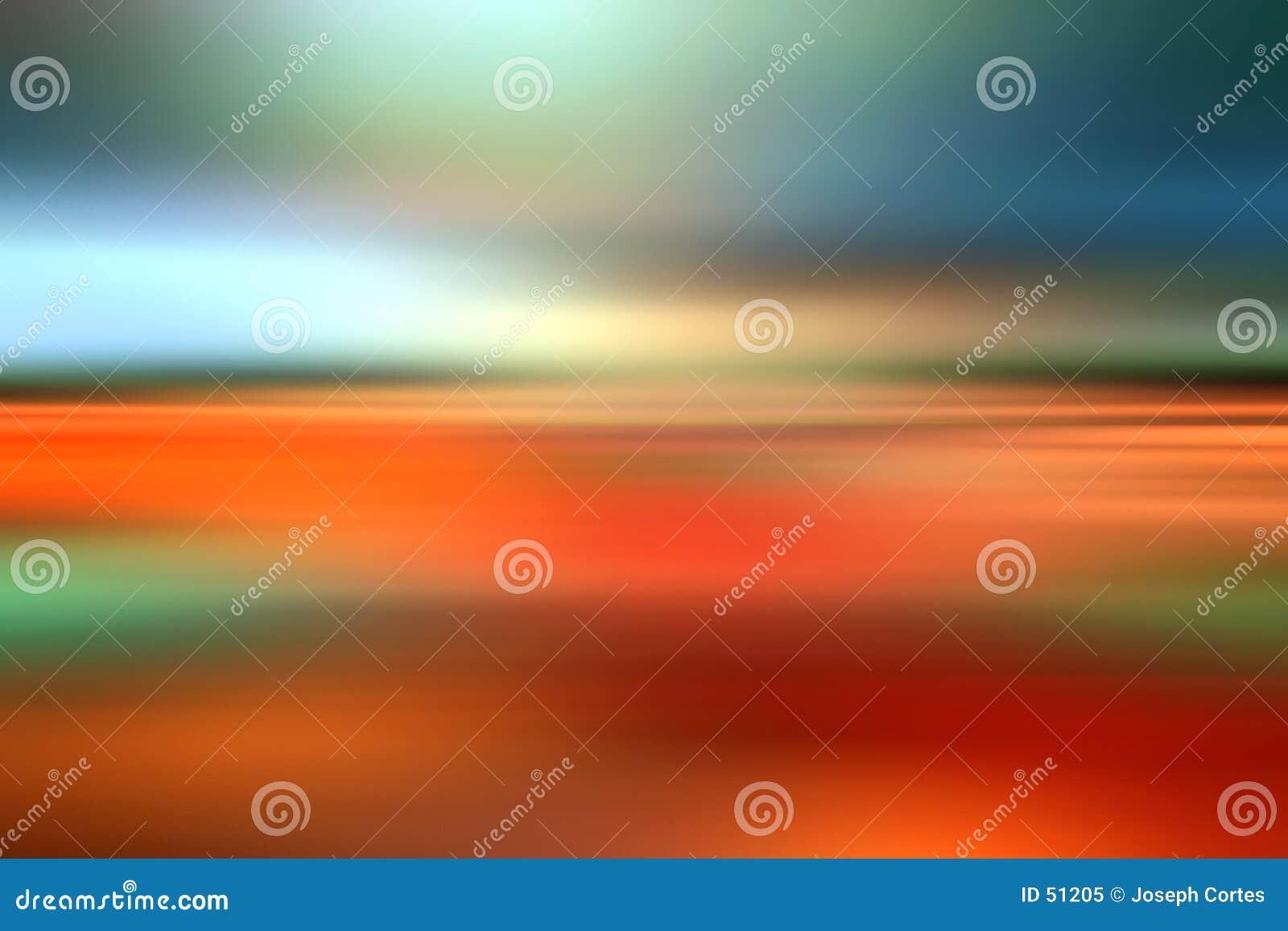 Couleurs abstraites de tache floue d horizontal