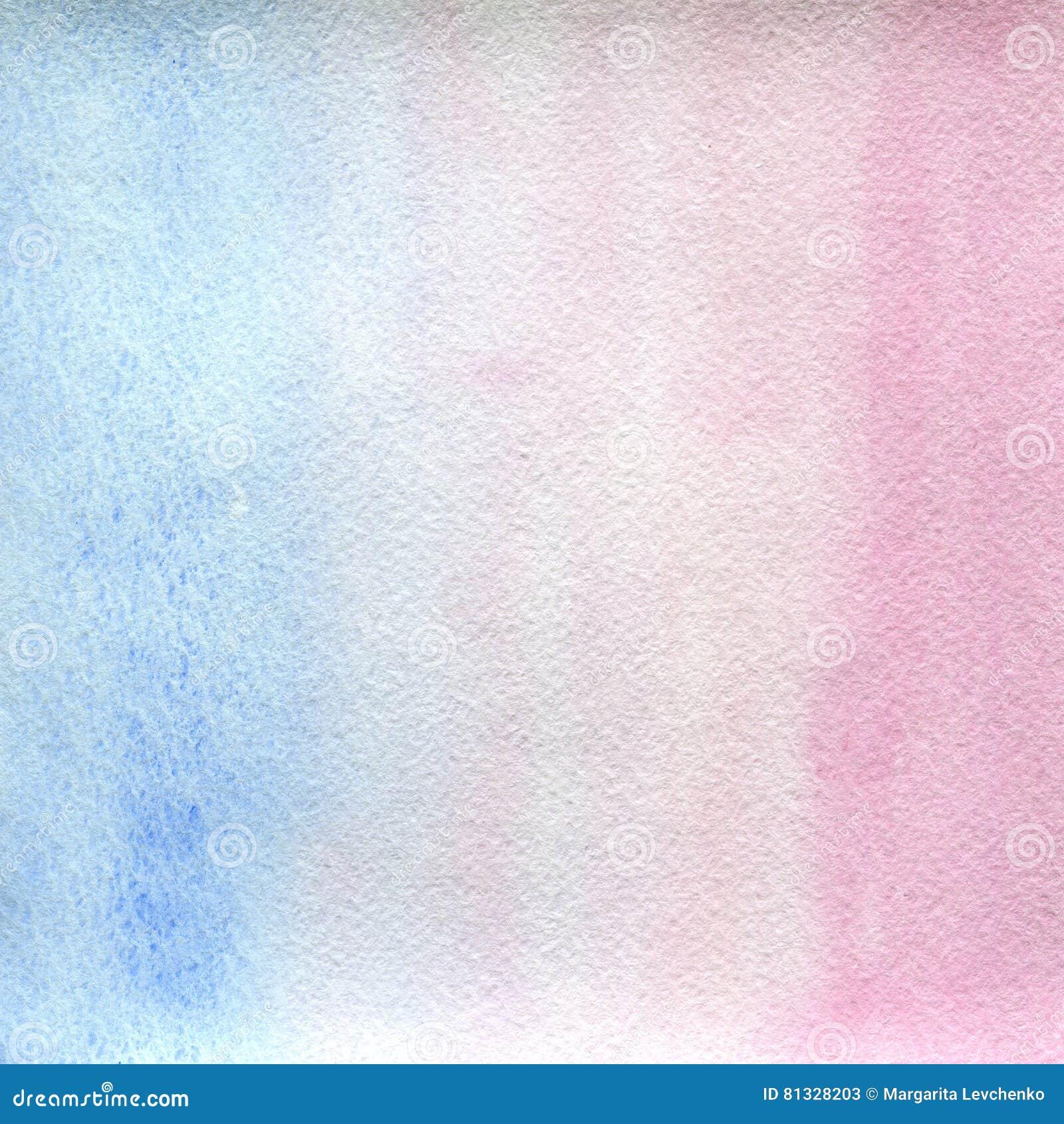 Couleurs claires, bleu-clair et roses d étirage transparent de texture d aquarelle fond abstrait, tache, tache floue, suffisance
