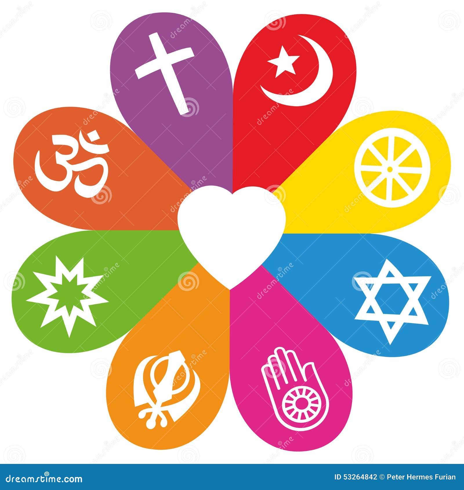 couleurs d 39 amour de fleur de symboles de religion illustration de vecteur image 53264842. Black Bedroom Furniture Sets. Home Design Ideas