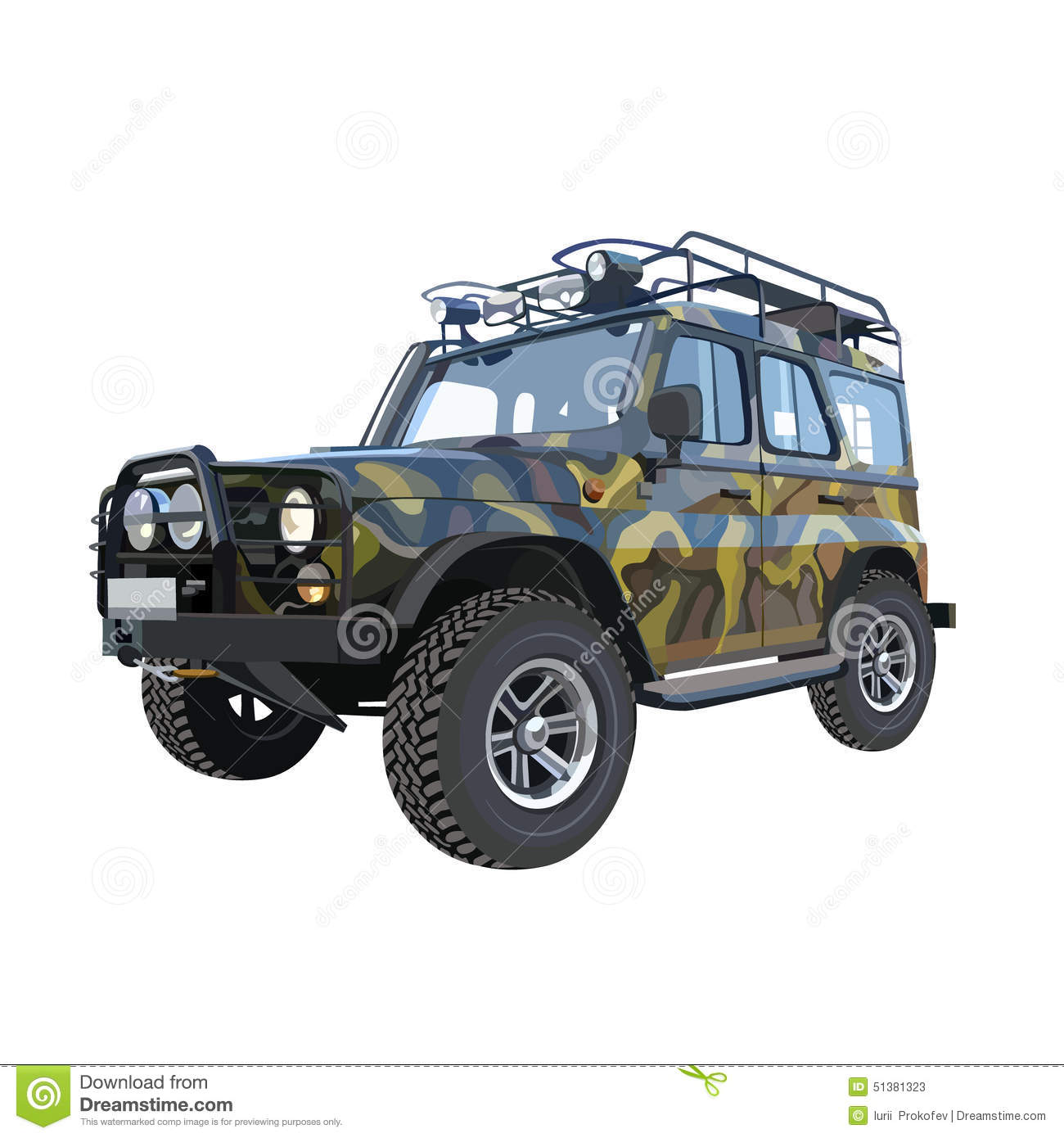 couleurs de camouflage de suv de voiture d 39 uaz illustration de vecteur illustration 51381323. Black Bedroom Furniture Sets. Home Design Ideas