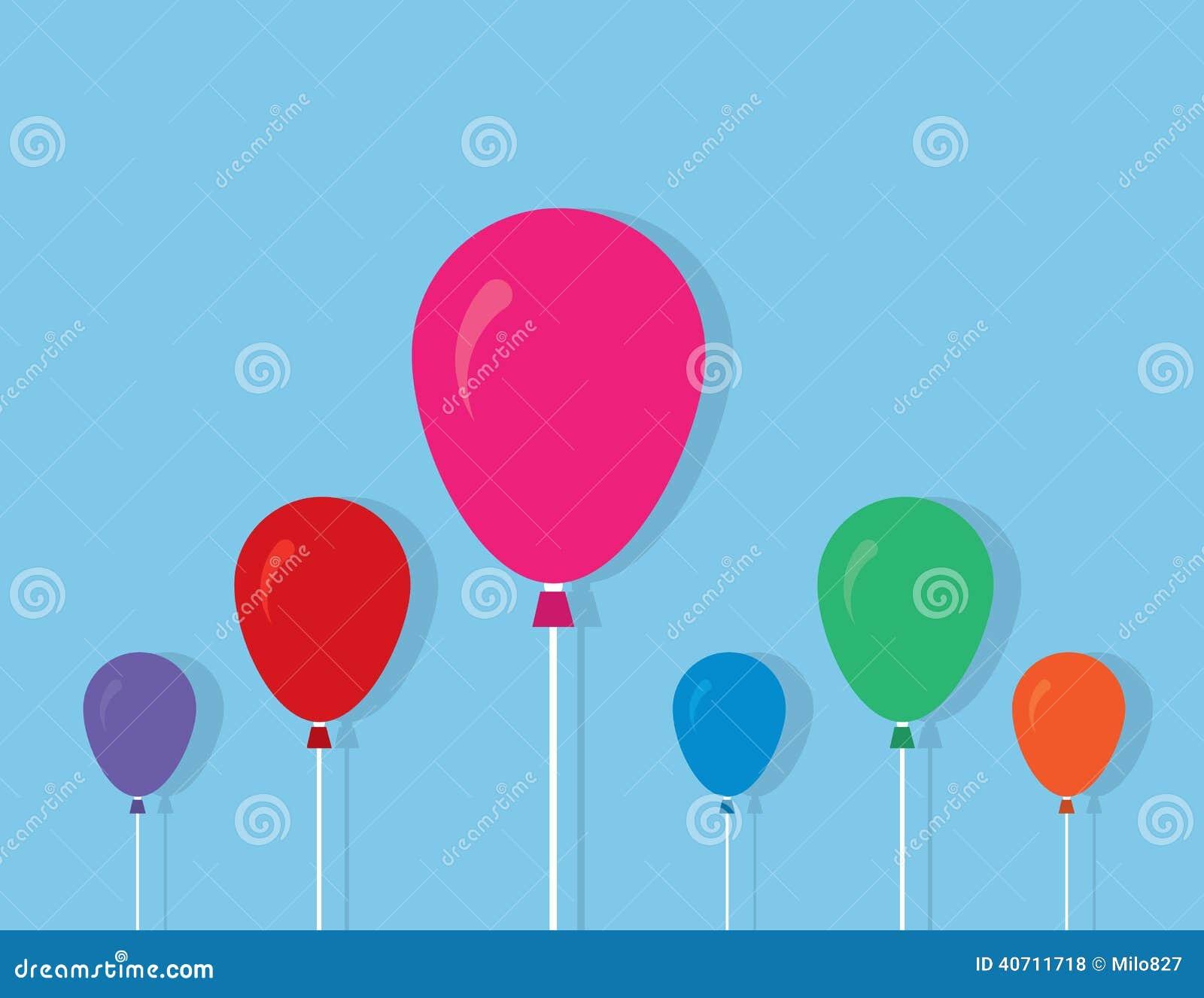couleurs de ficelle de ballons illustration de vecteur image 40711718. Black Bedroom Furniture Sets. Home Design Ideas