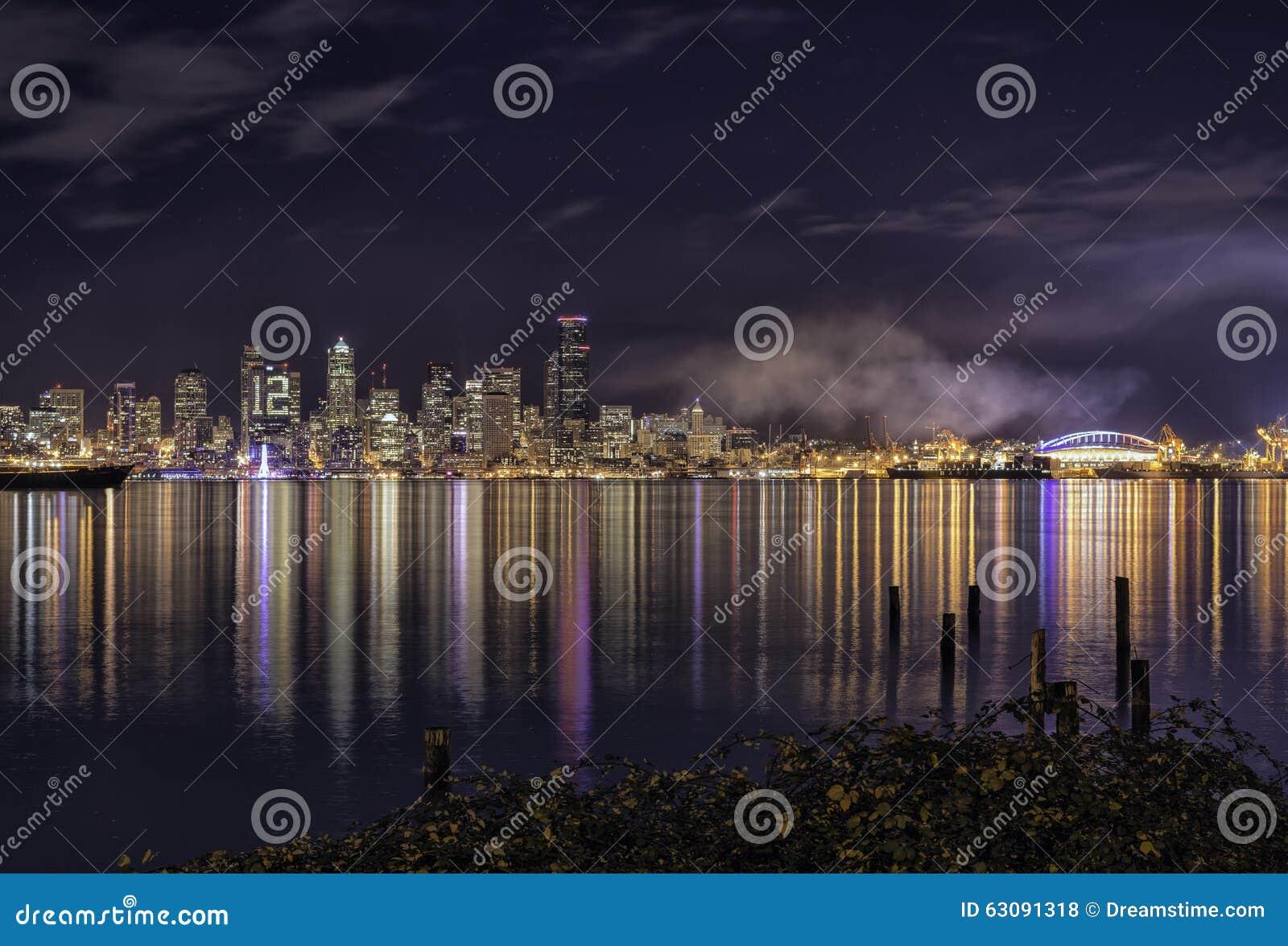 Download Couleurs de Seattle photo stock. Image du forêt, maison - 63091318