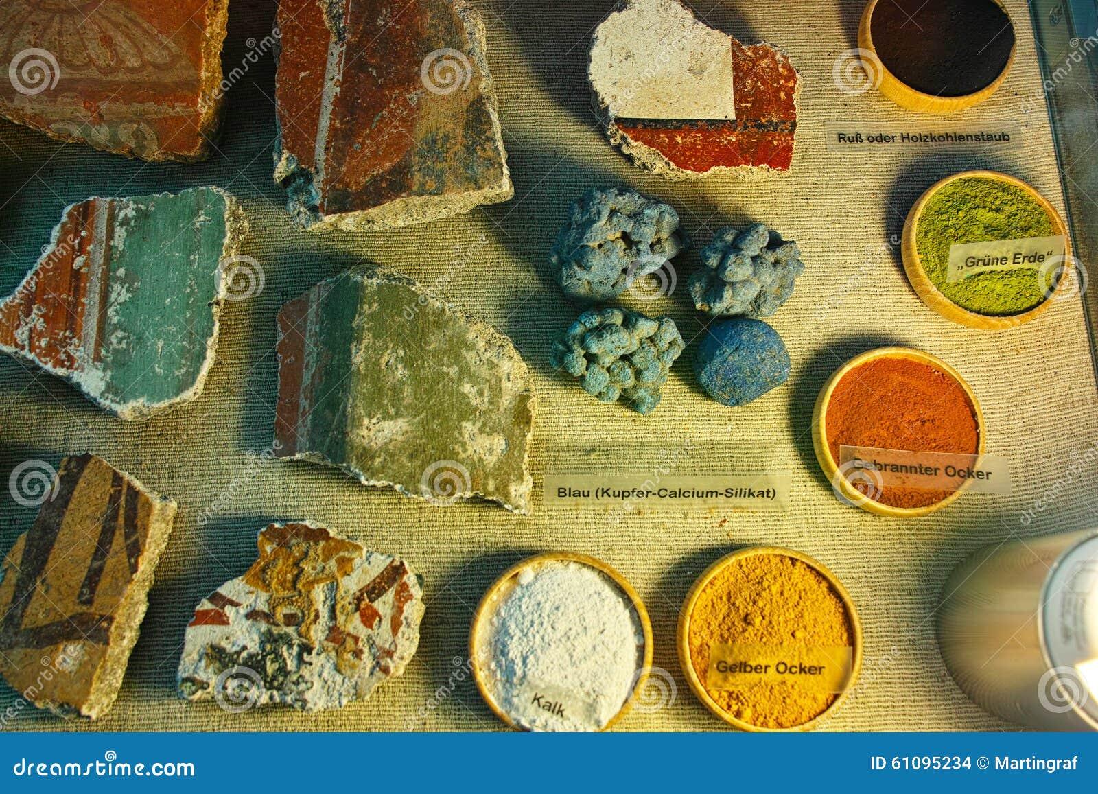 Couleurs pour la peinture murale romaine photo stock Couleurs peintures murales