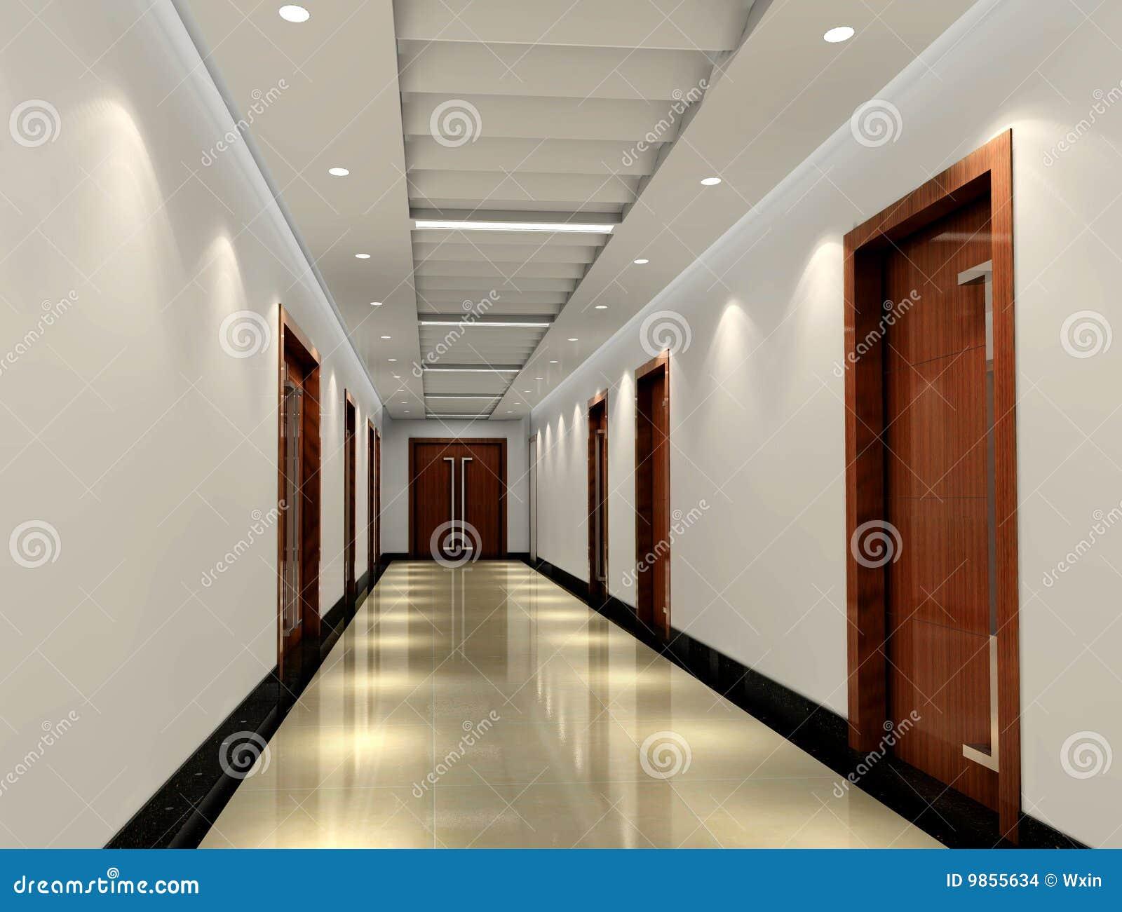 couloir 3d images stock image 9855634. Black Bedroom Furniture Sets. Home Design Ideas
