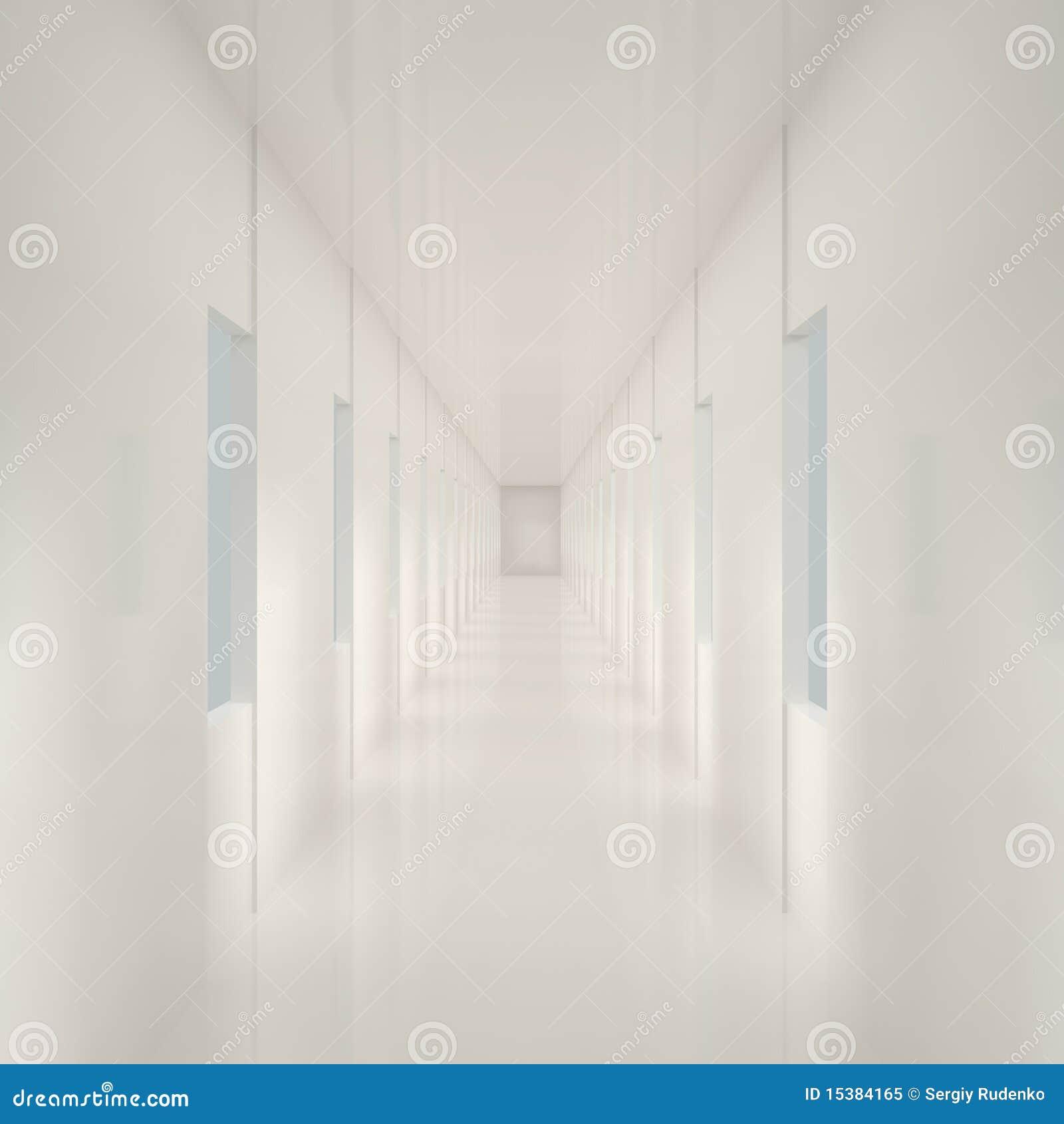 couloir blanc vide illustration stock image du domestique 15384165. Black Bedroom Furniture Sets. Home Design Ideas