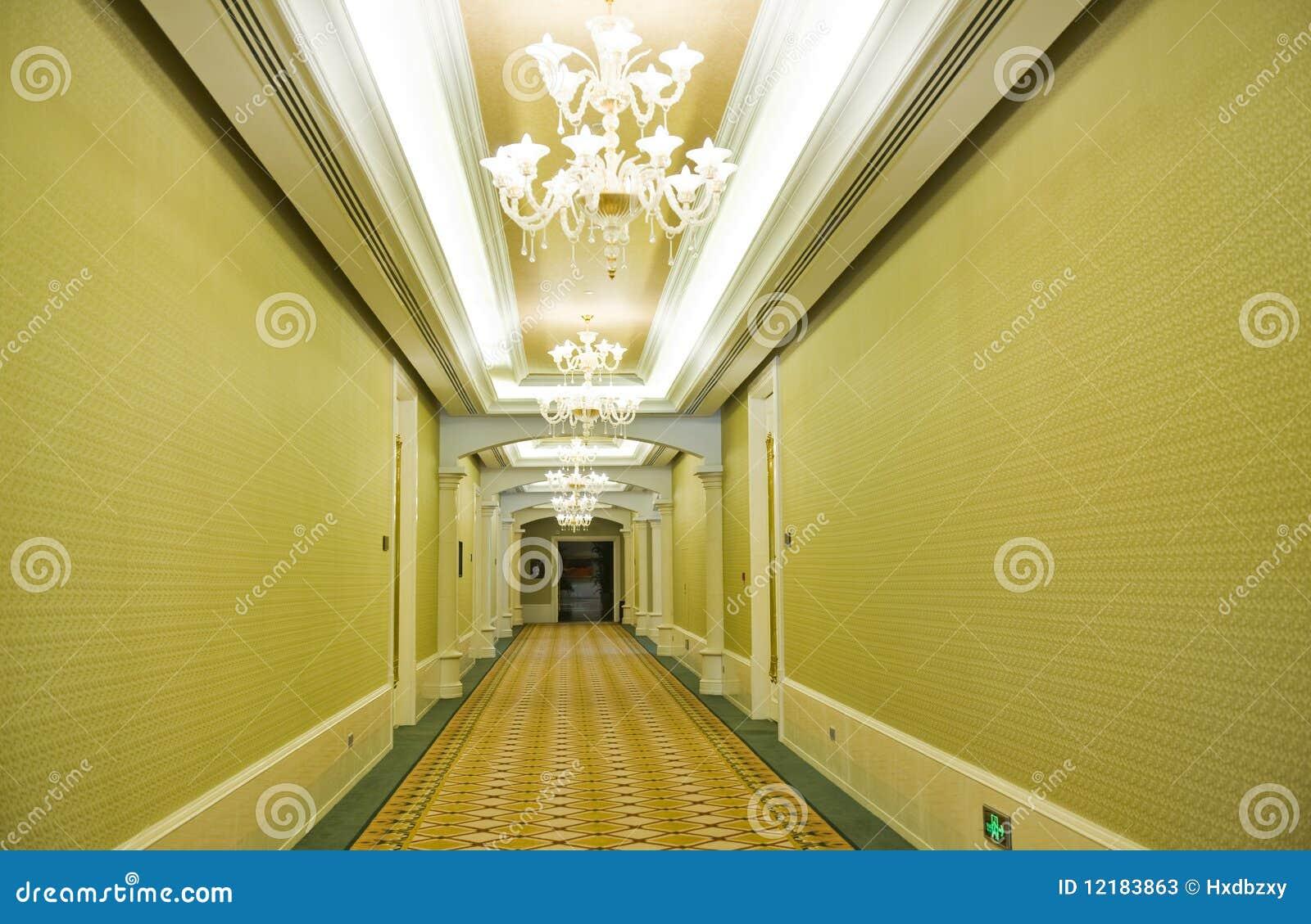Couloir d 39 h tel photos stock image 12183863 - Papier peint couloir long ...