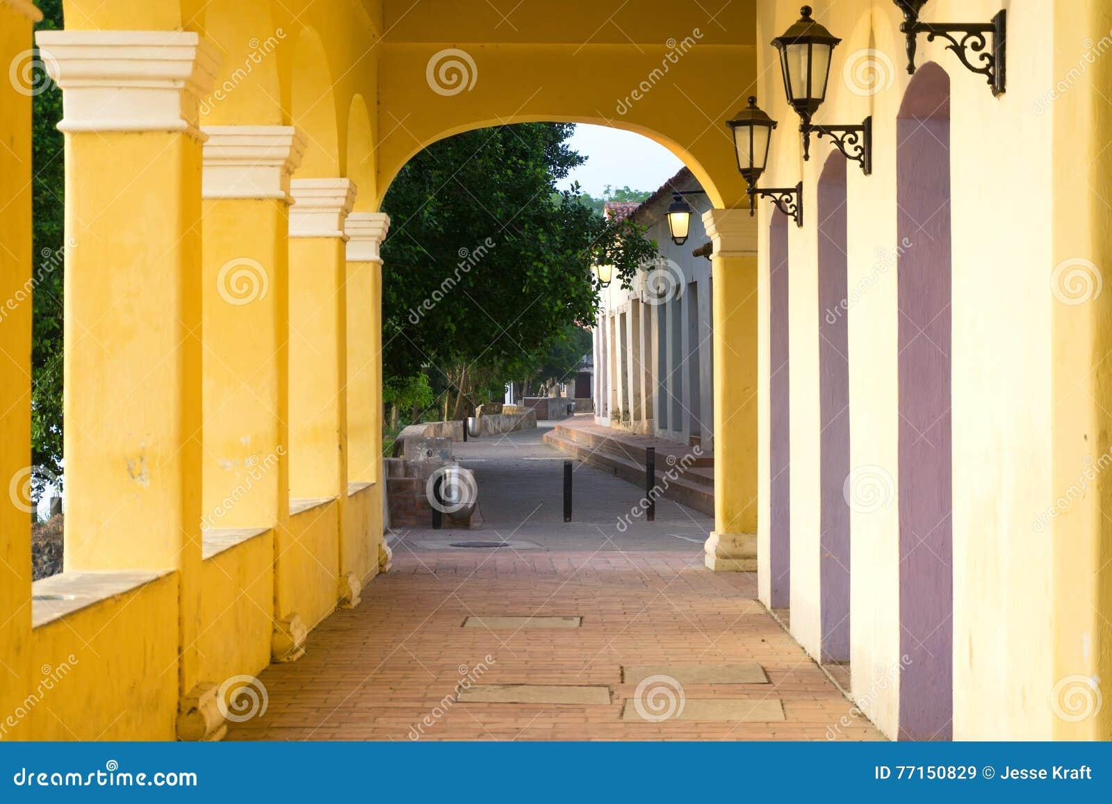 Couloir dans Mompox, Colombie