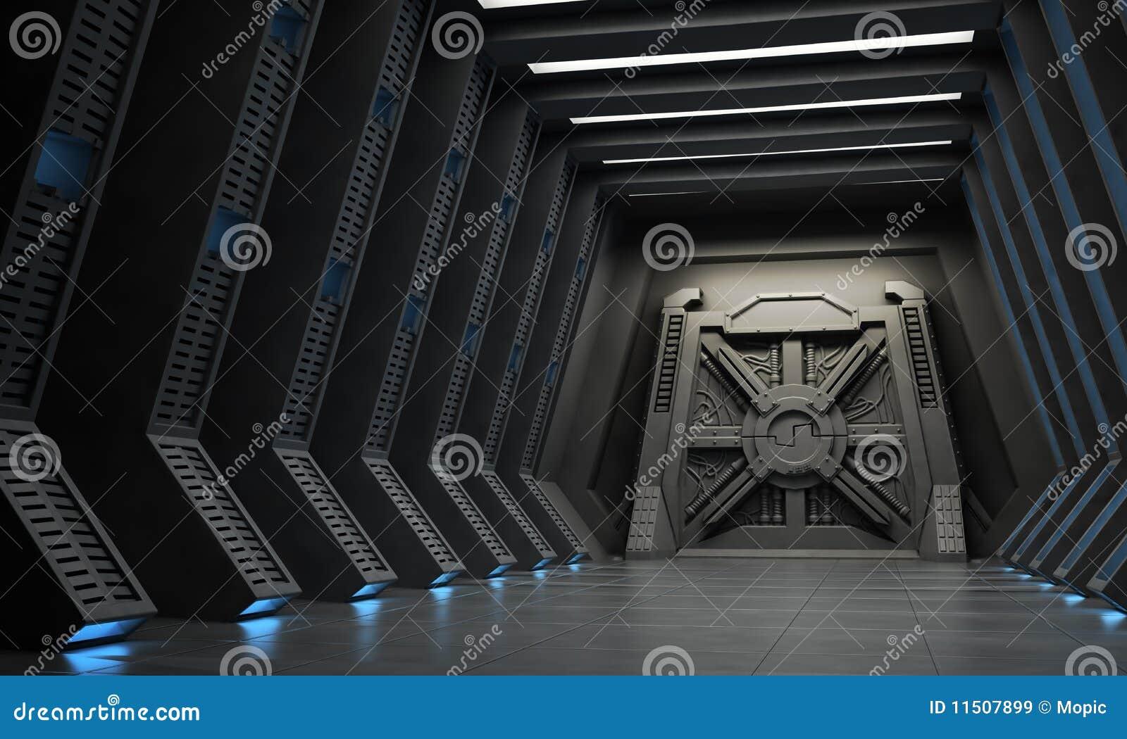 Couloir De La Science Fiction Images Libres De Droits
