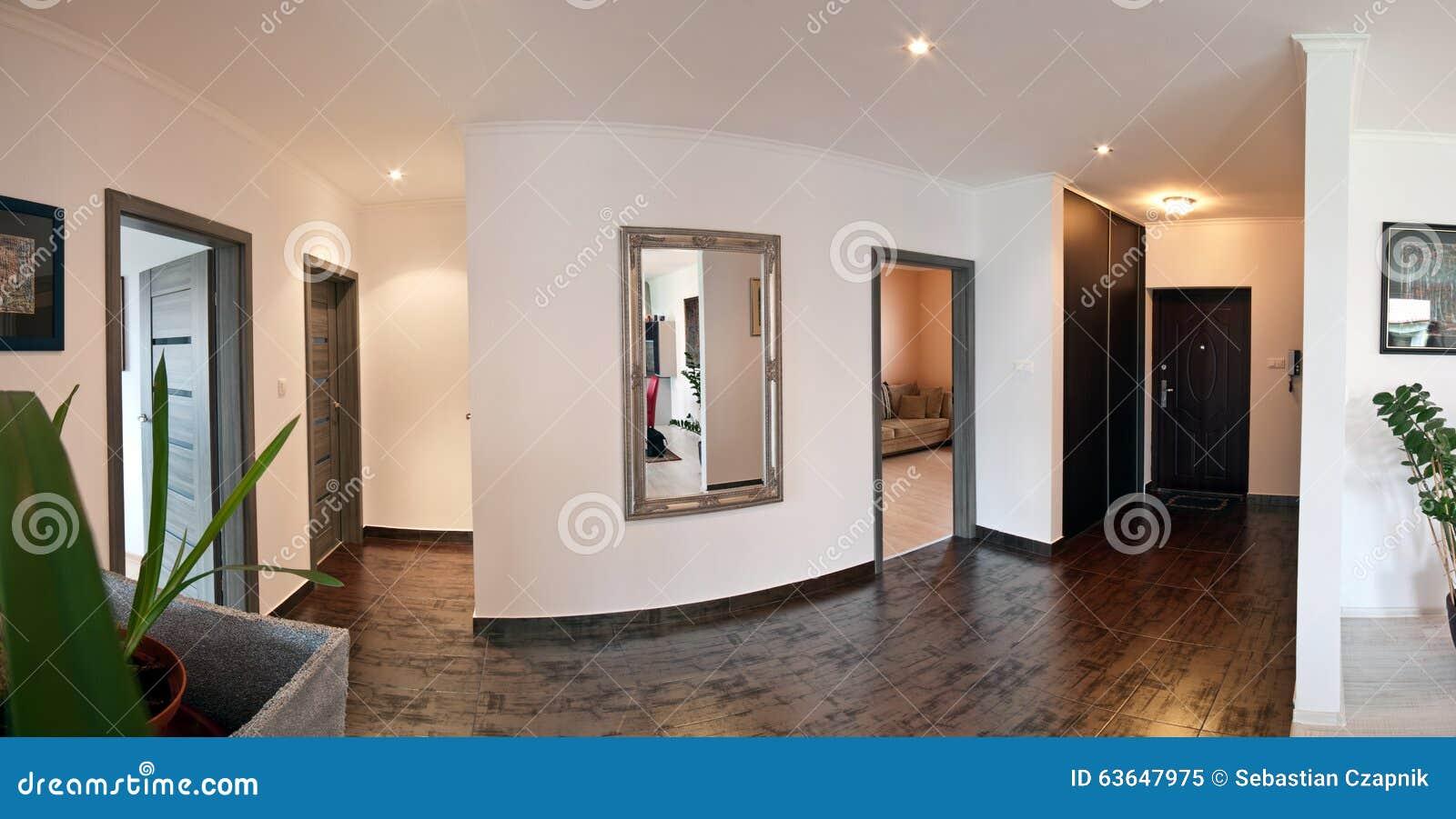 Couloir de maison moderne image stock. Image du architecte - 63647975