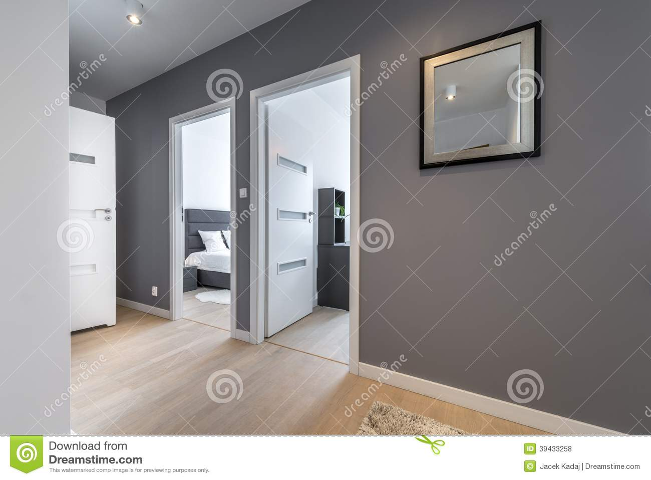 Couloir en appartement moderne photo stock image 39433258 - Couleur appartement moderne ...