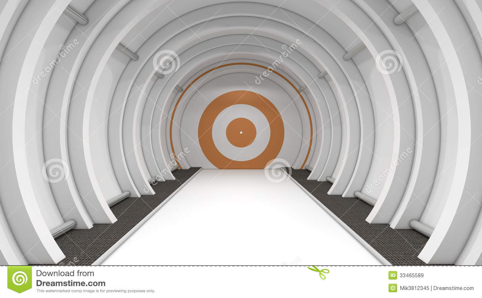 Conception 3d. scifi futuriste de couloir