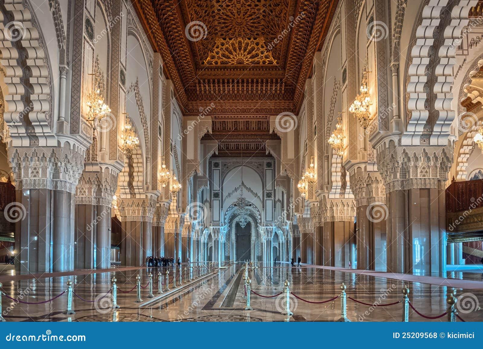 Couloir int rieur casablanca moro de mosqu e de hassan ii for Mosquee hassan 2 interieur