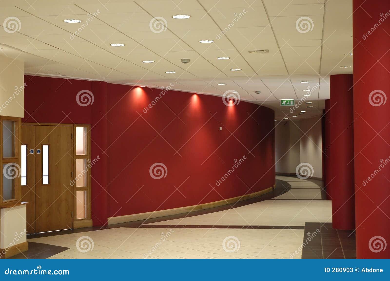 couloir rouge photos stock image 280903. Black Bedroom Furniture Sets. Home Design Ideas
