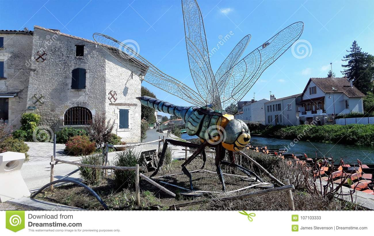 Coulon Is A Commune In Western France A Typical French House