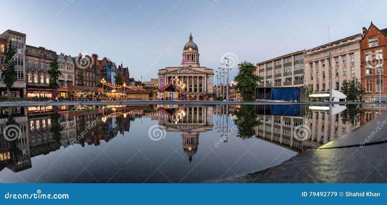 The Council House , Old Market Square, Nottingham, England, UK