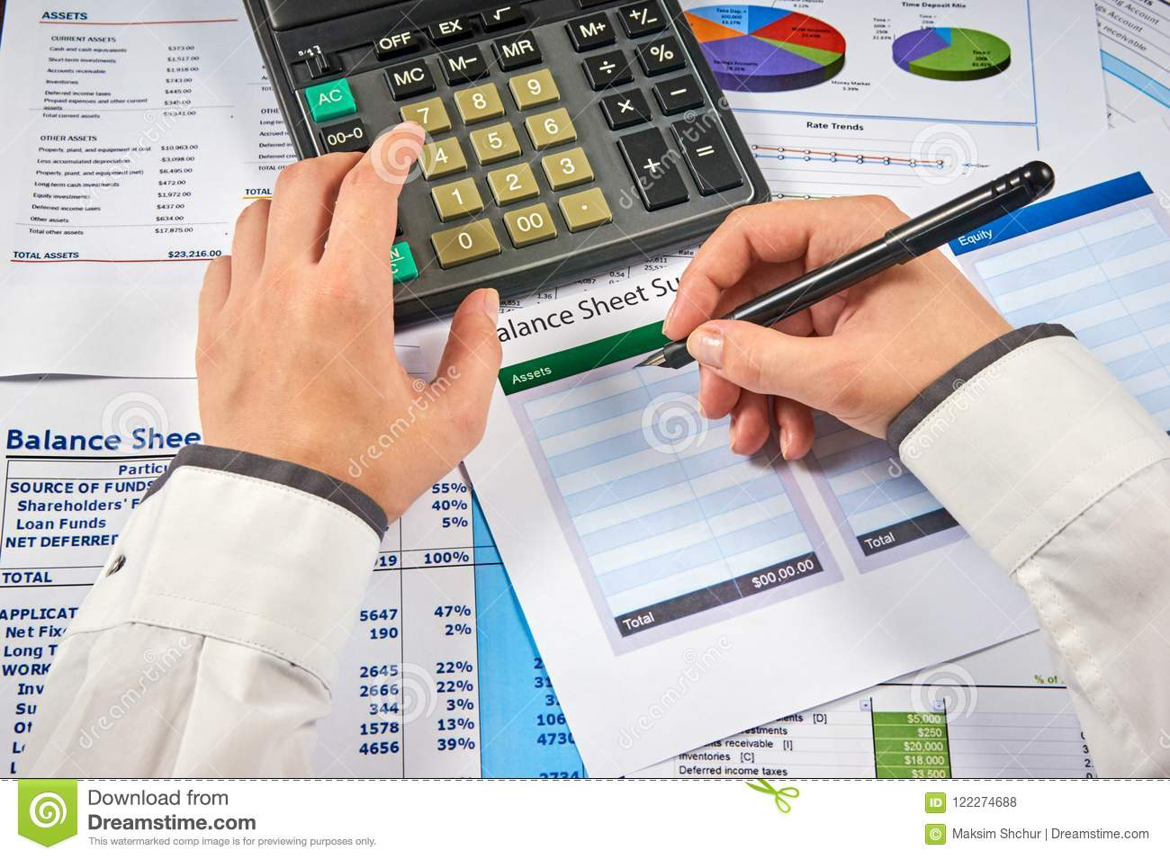 count in balance sheet summary stock photo image of finance