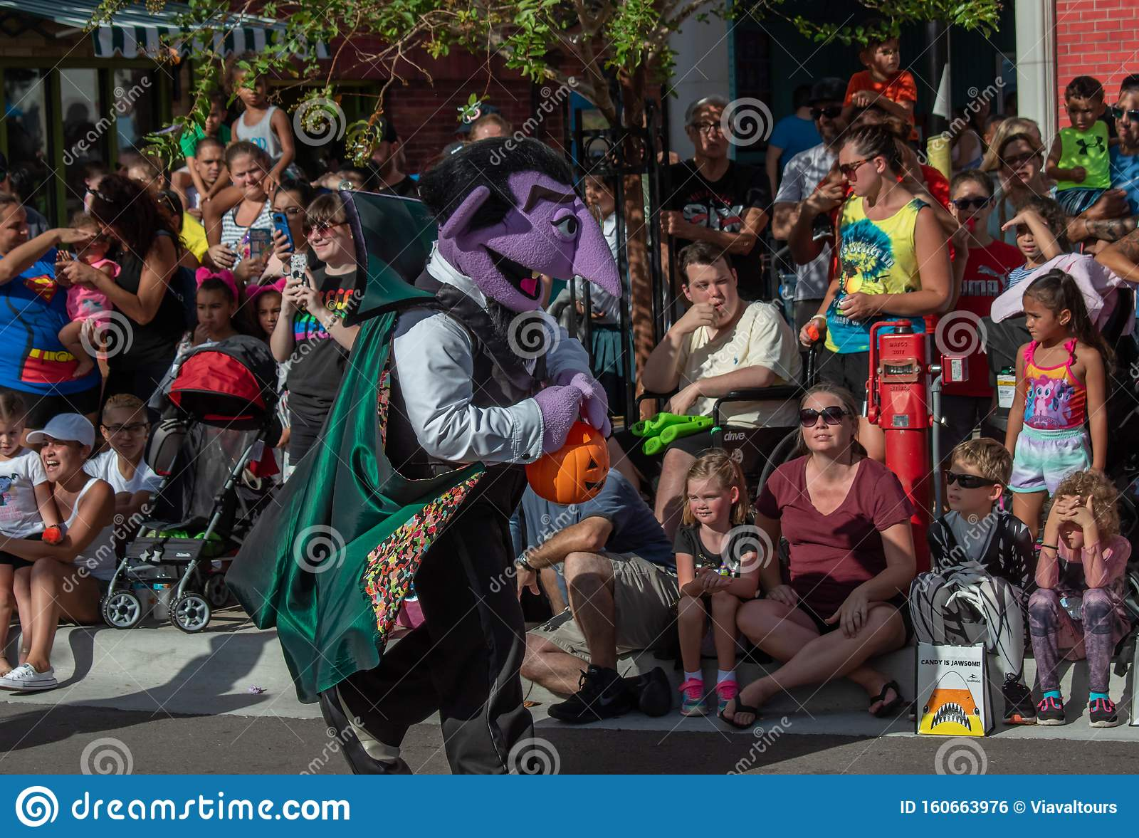 Count Von Count Dancing In Halloween Sesame Street Party