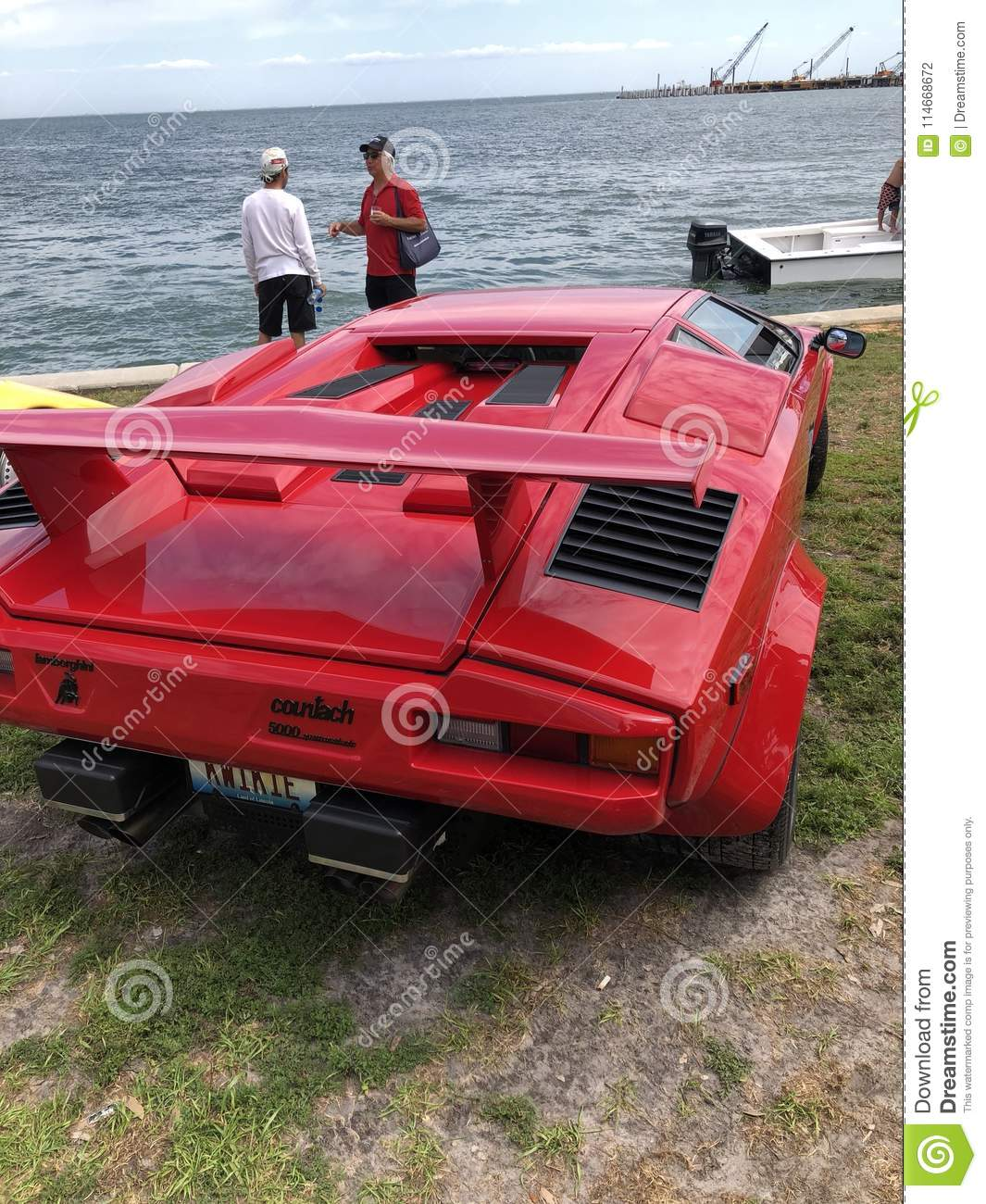 Countach Lamborghini Editorial Photography Image Of Beach 114668672