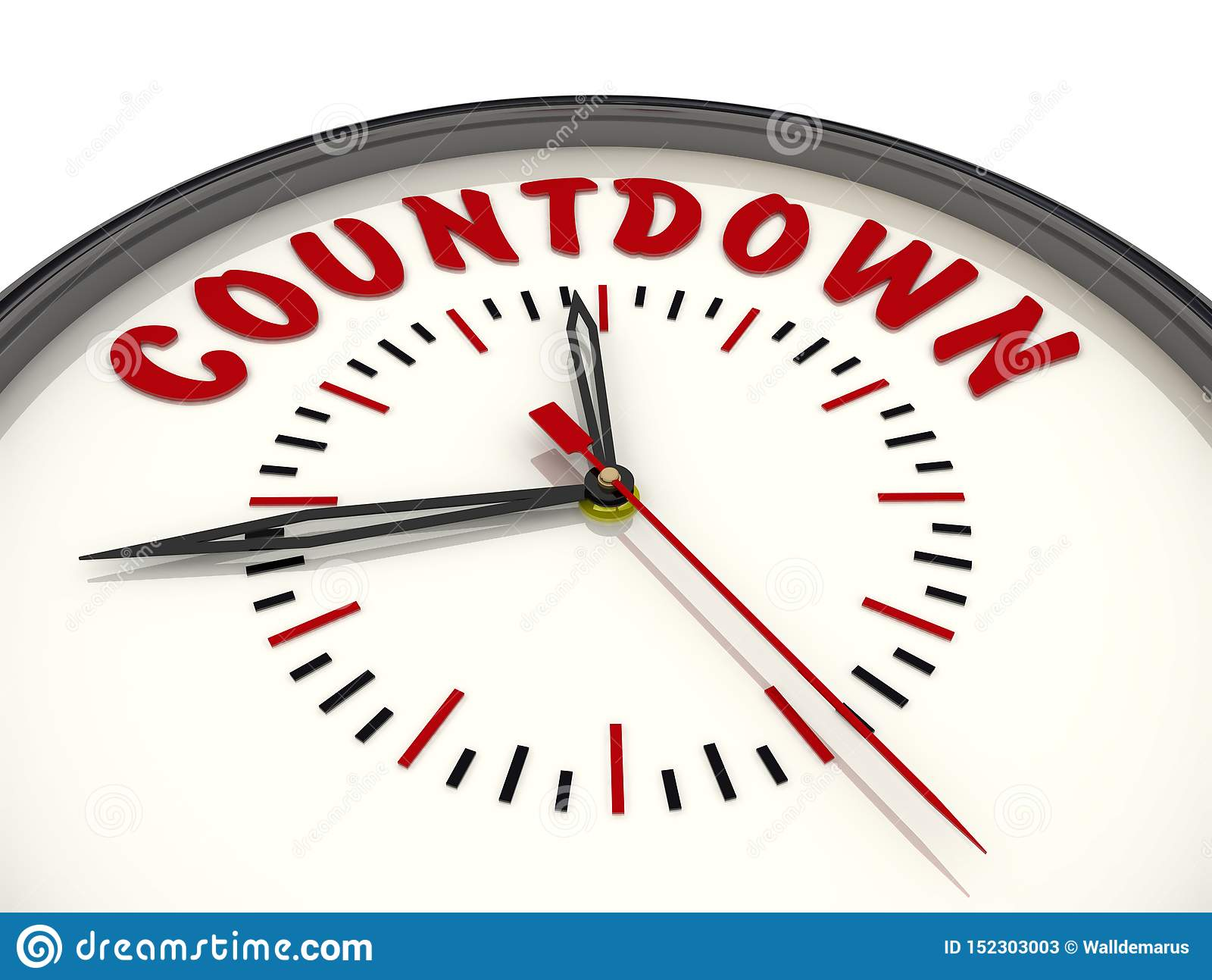 Countdown Reloj con el texto