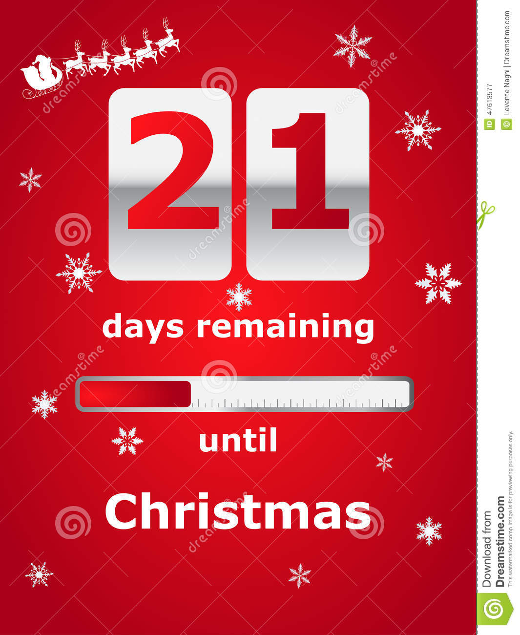 How Many Days Left Until Christmas.Countdown Till Christmas Stock Vector Illustration Of