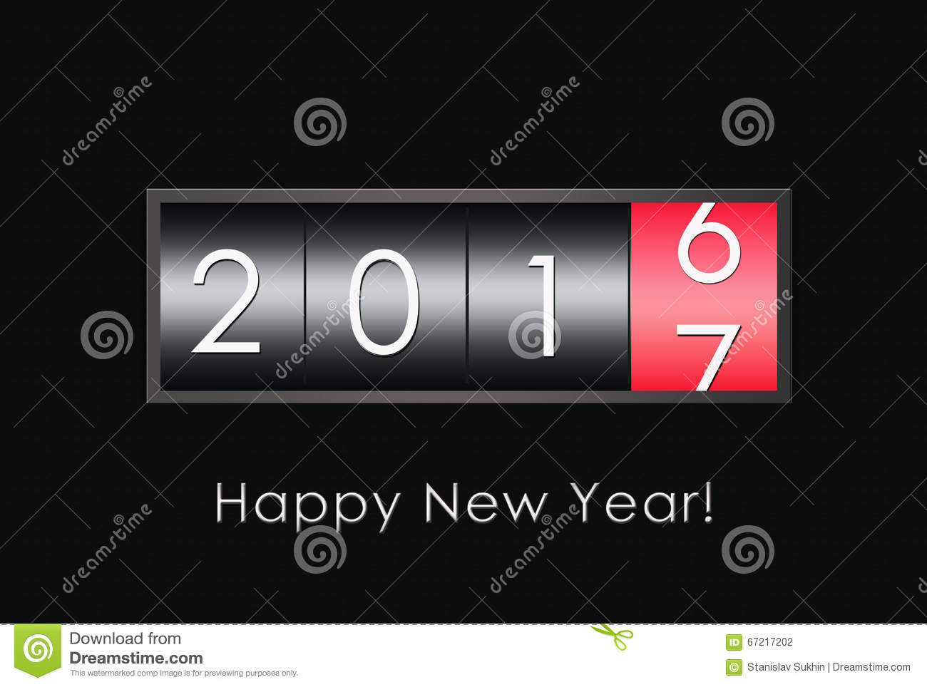 2017 countdown timer isolated on black background stock - How to make a countdown your wallpaper ...