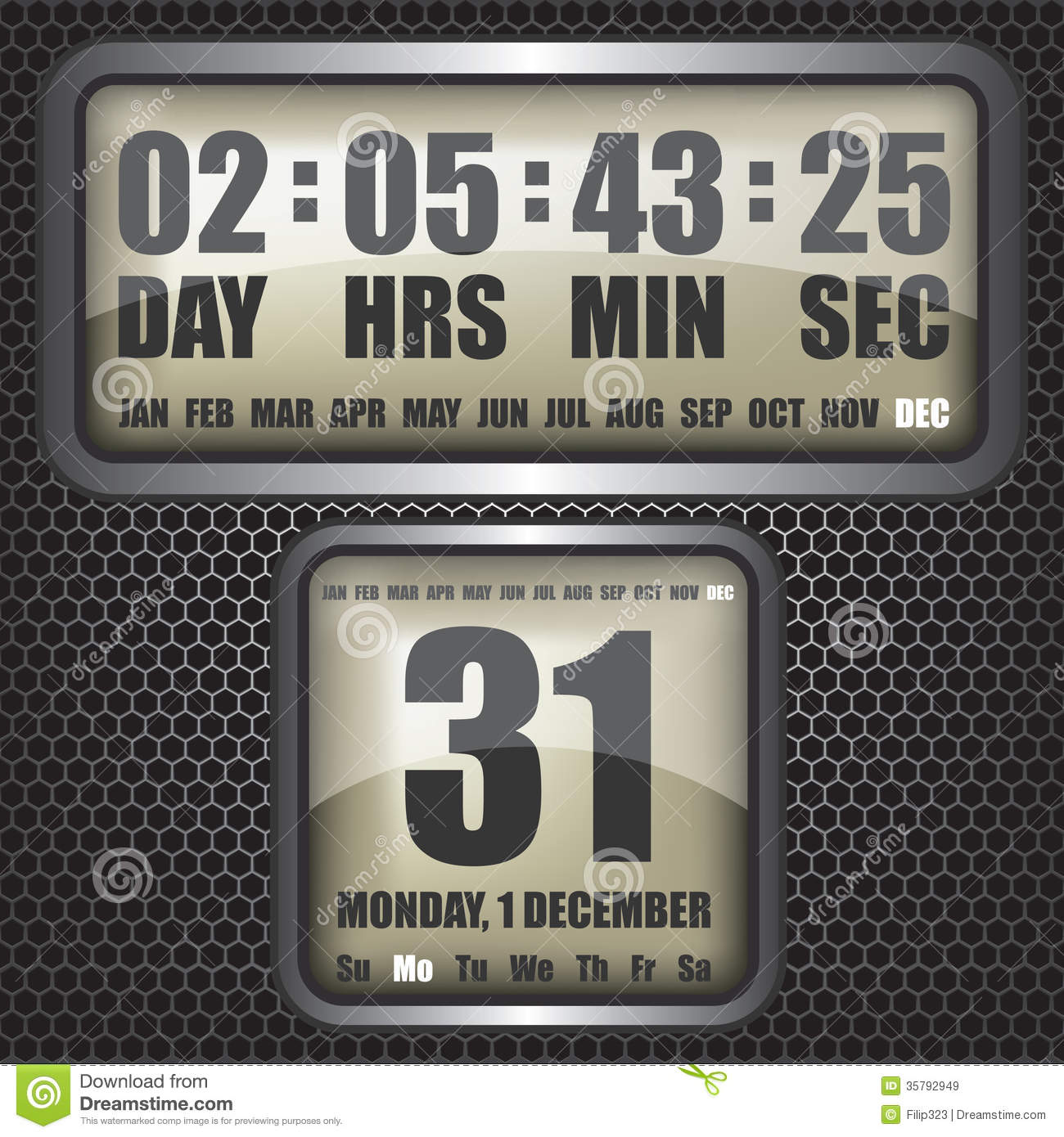 Countdown timer on octagon background royalty free stock - How to make a countdown your wallpaper ...