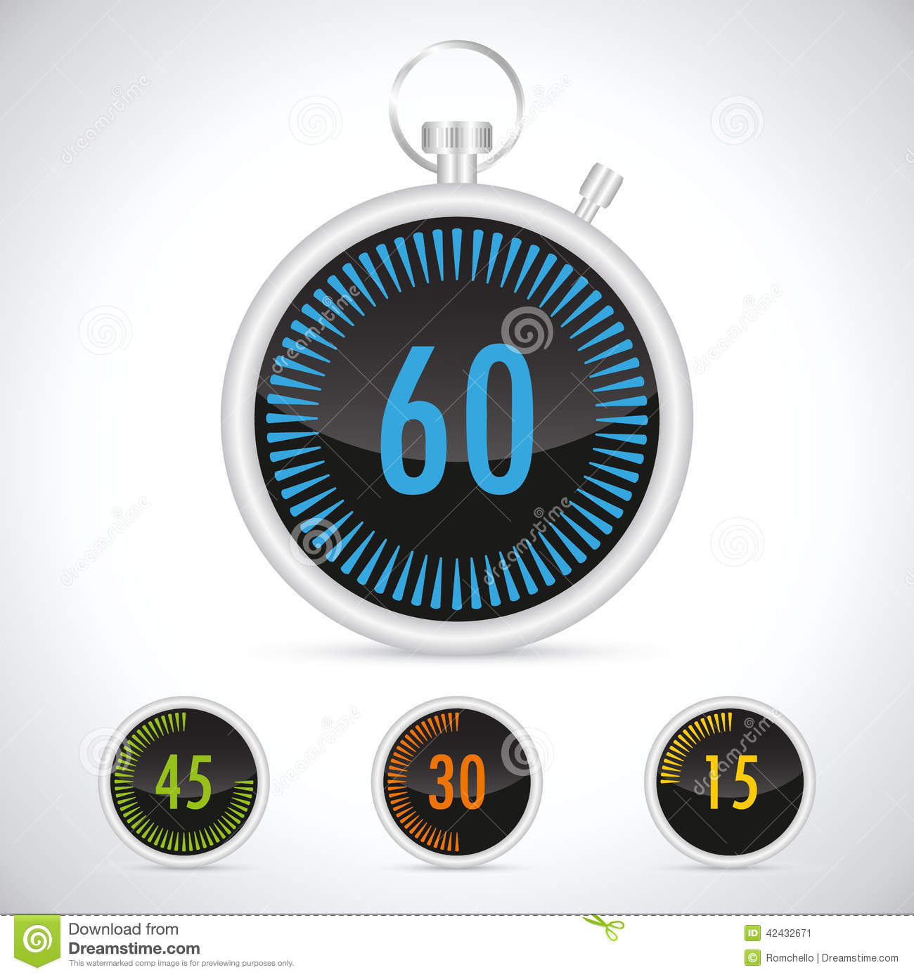 Countdown Timer stock illustration. Illustration of isolated - 42432671