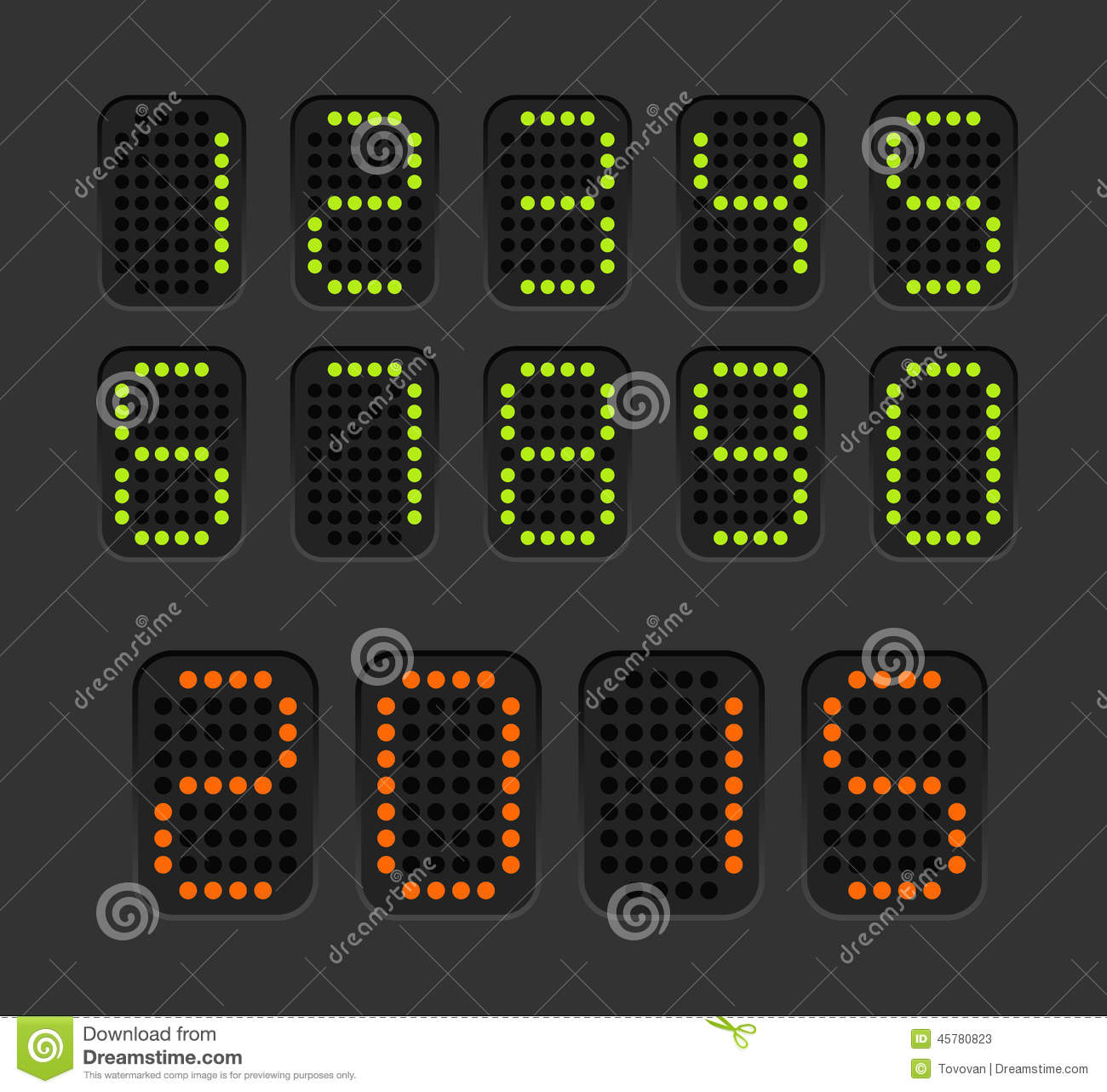Counter with digits set