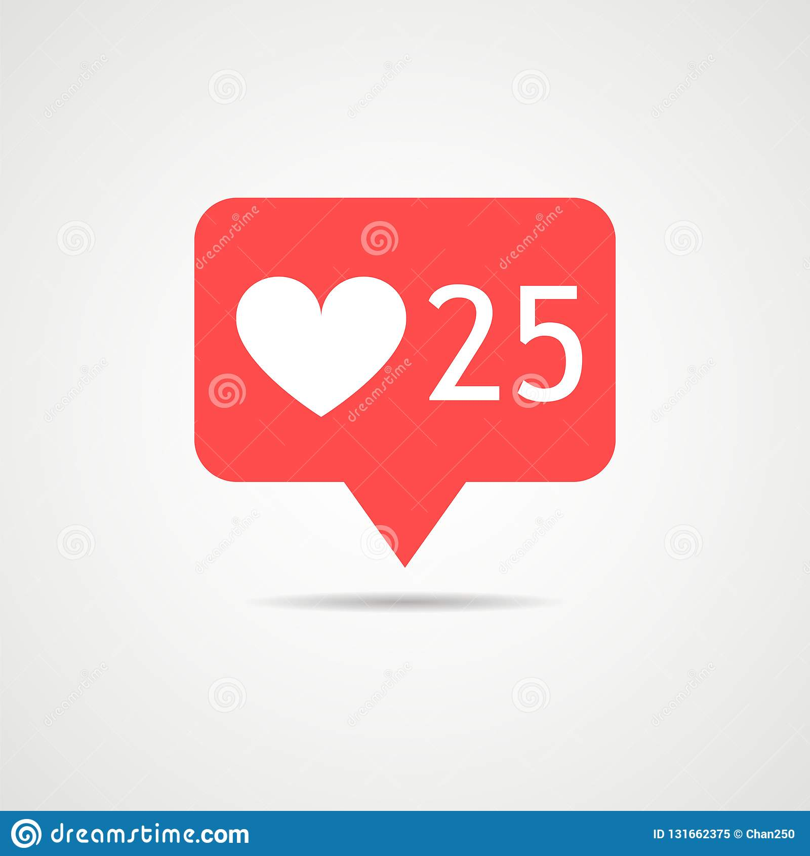 Counter Icon Notifications Instagram  Follower  Like Icon 25