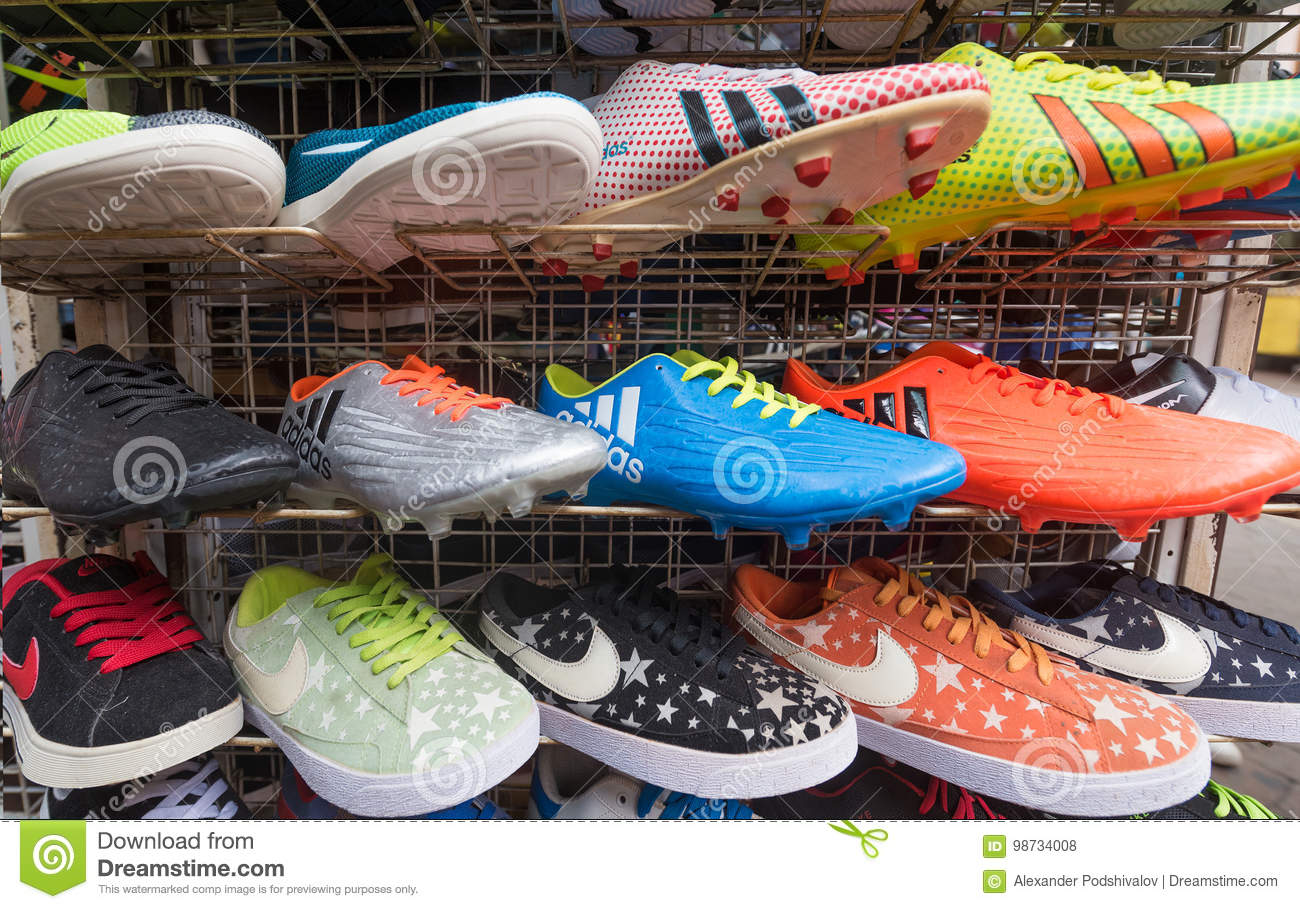 8c20da863d4a Counterfeit Sports Shoes On Market Editorial Stock Photo - Image of ...