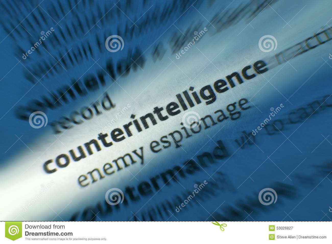 Counterintelligence dictonary definition stock image for Couter definition